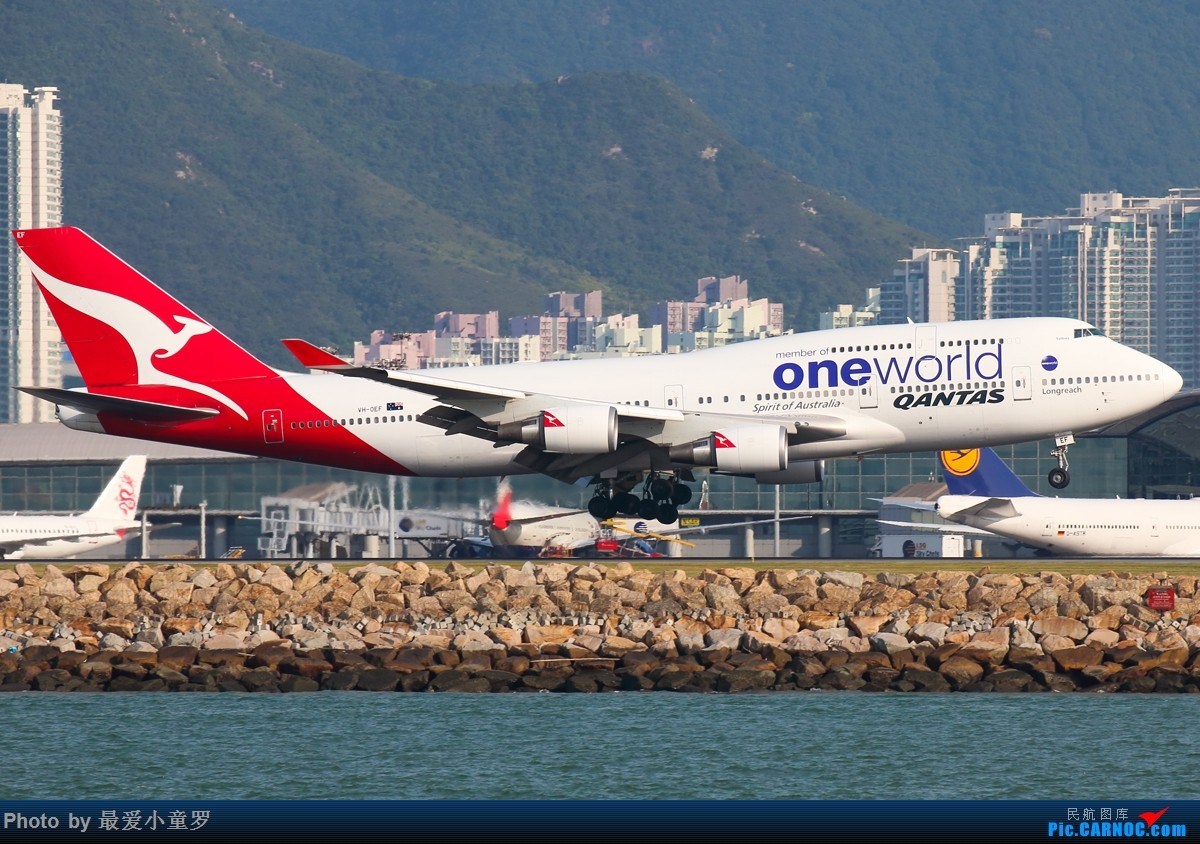 Re:[原创]百年波音—寻找最美波音图片 BOEING 747-400 VH-OEF 中国香港国际机场