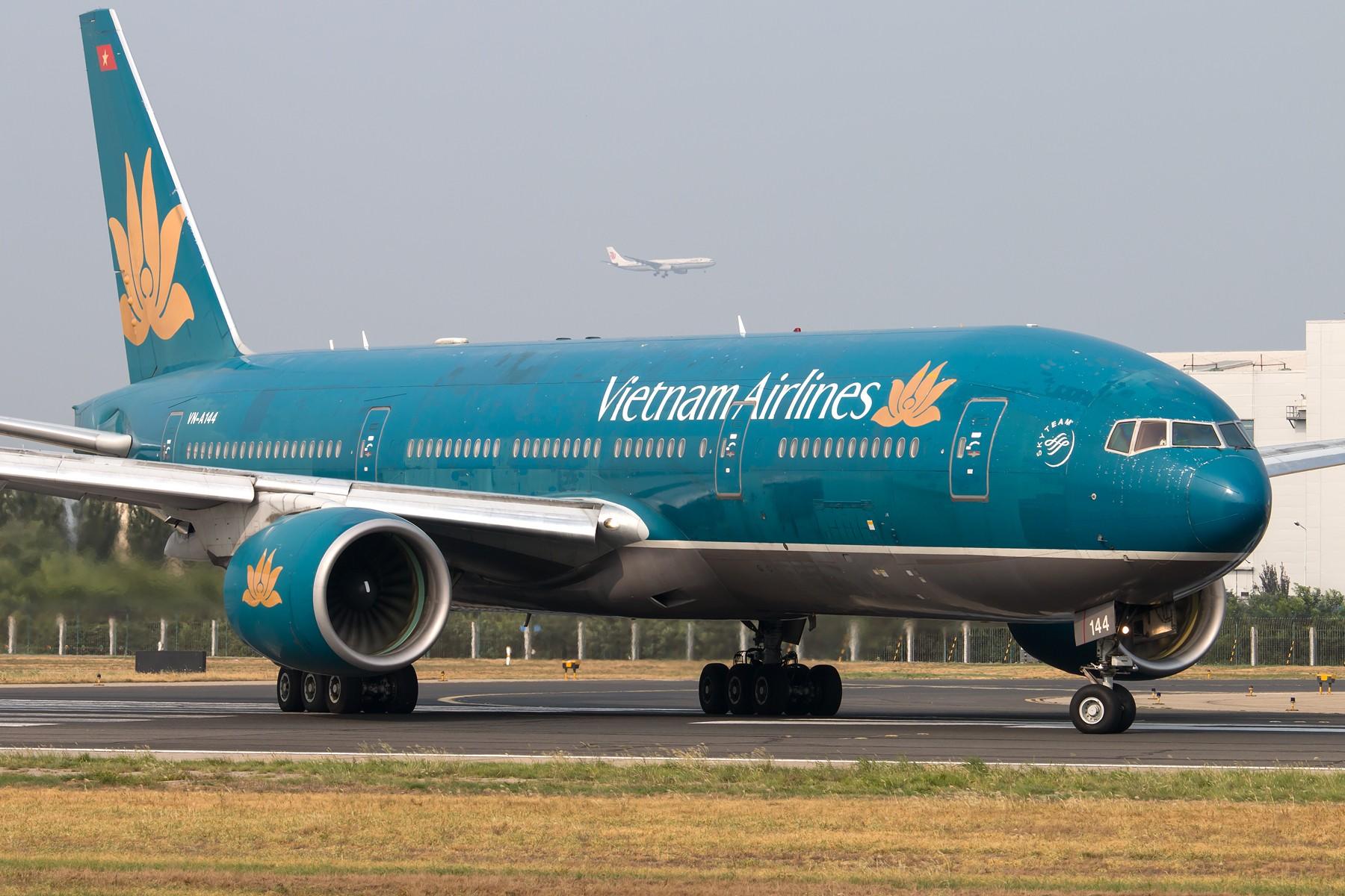 [一图党] Vietnam Airlines B777-200ER 1800*1200 BOEING B777-200ER VN-A144 中国北京首都国际机场