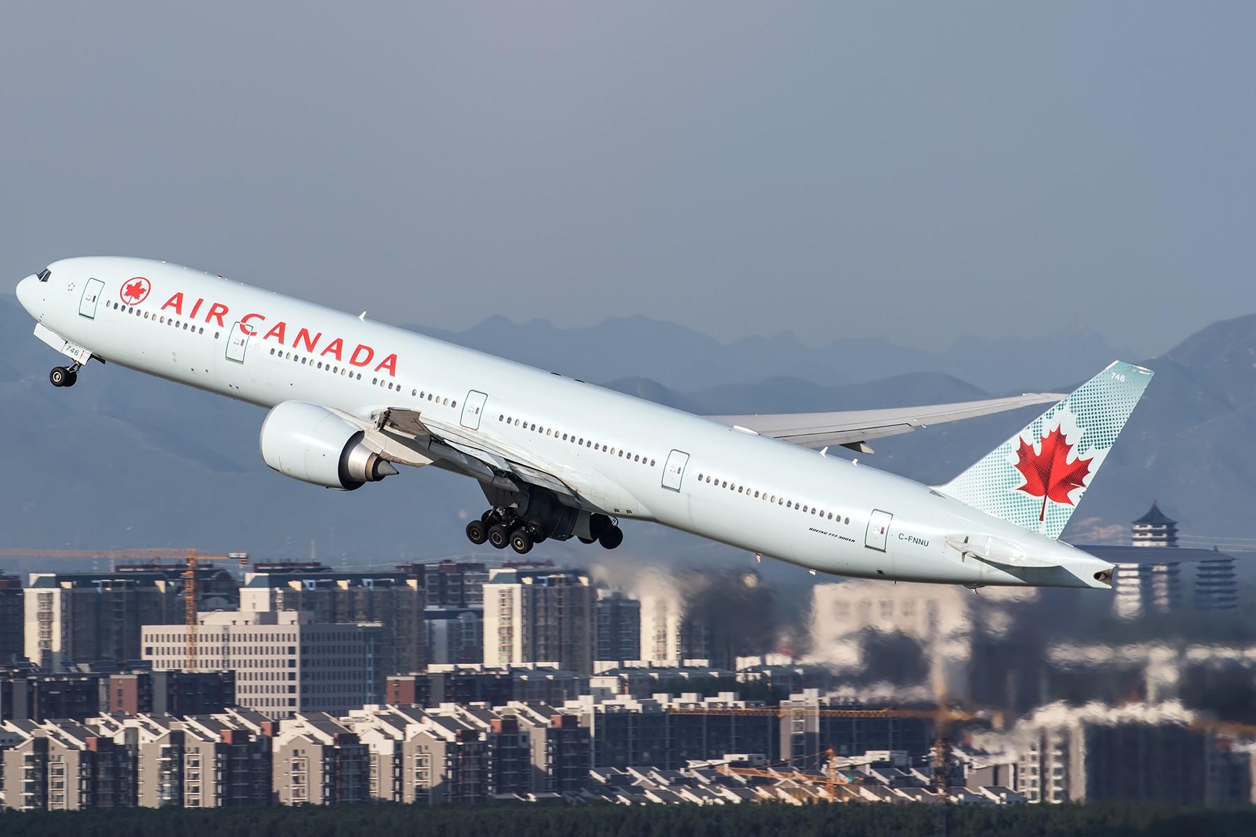 [原创]**一图党**空航大拿加 BOEING 777-300ER C-FNNU 中国北京首都国际机场