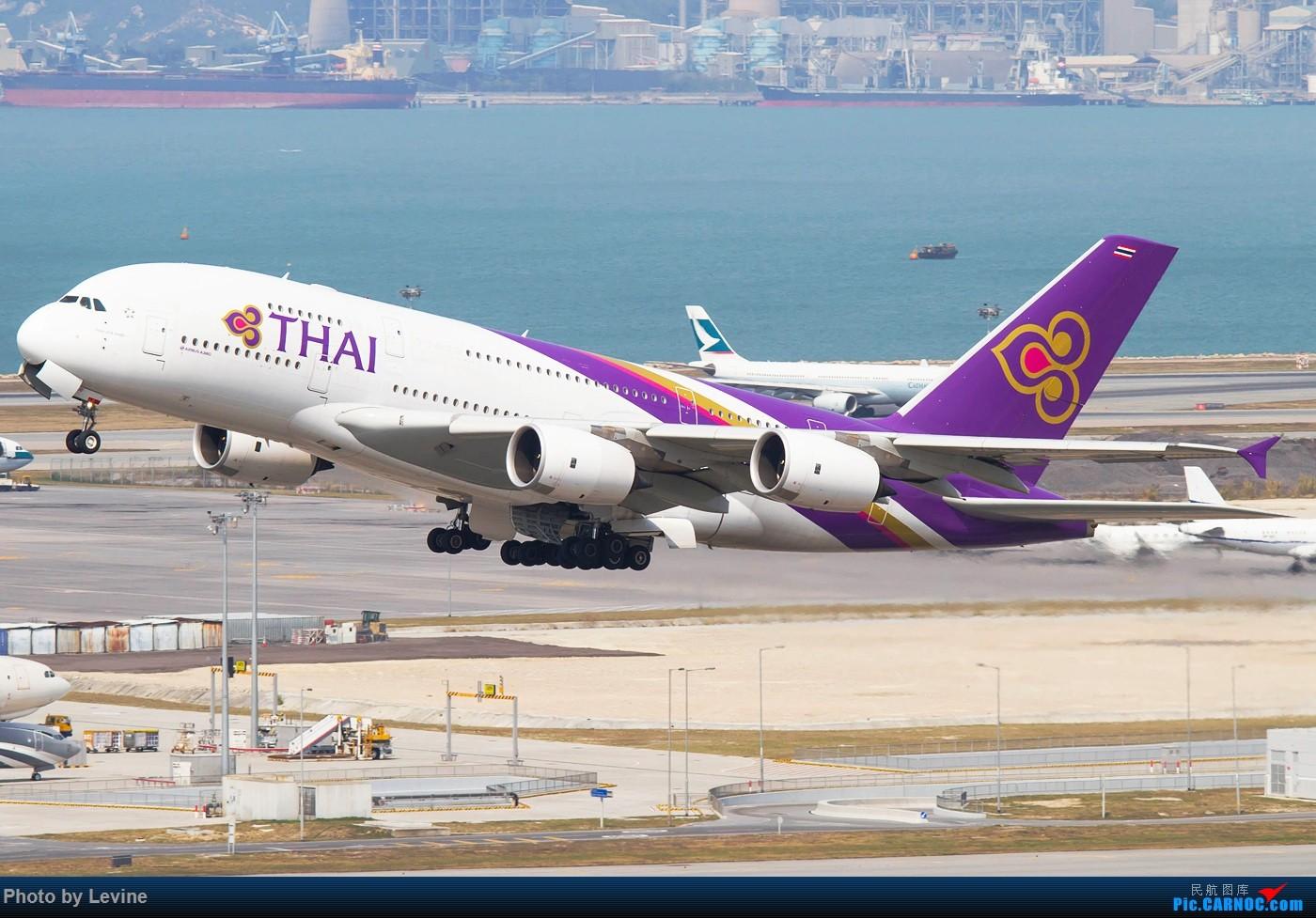 Re:[原创]今冬沙螺湾 迟来的图片 AIRBUS A380-800 HS-TUD 中国香港国际机场