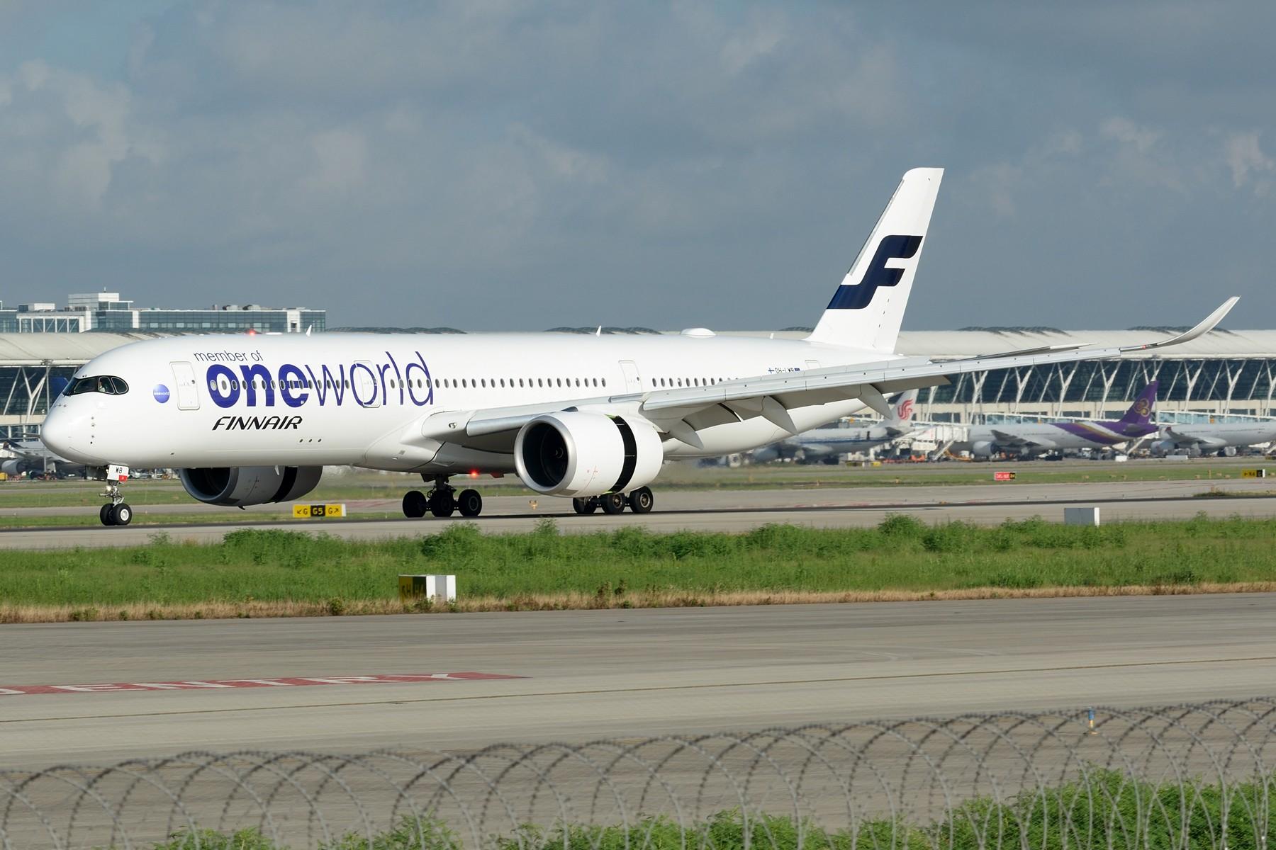 """[原创]【PVG】芬兰航空 A350-900 OH-LWB """"oneworld""""涂装 AIRBUS A350-900 OH-LWB 中国上海浦东国际机场"""