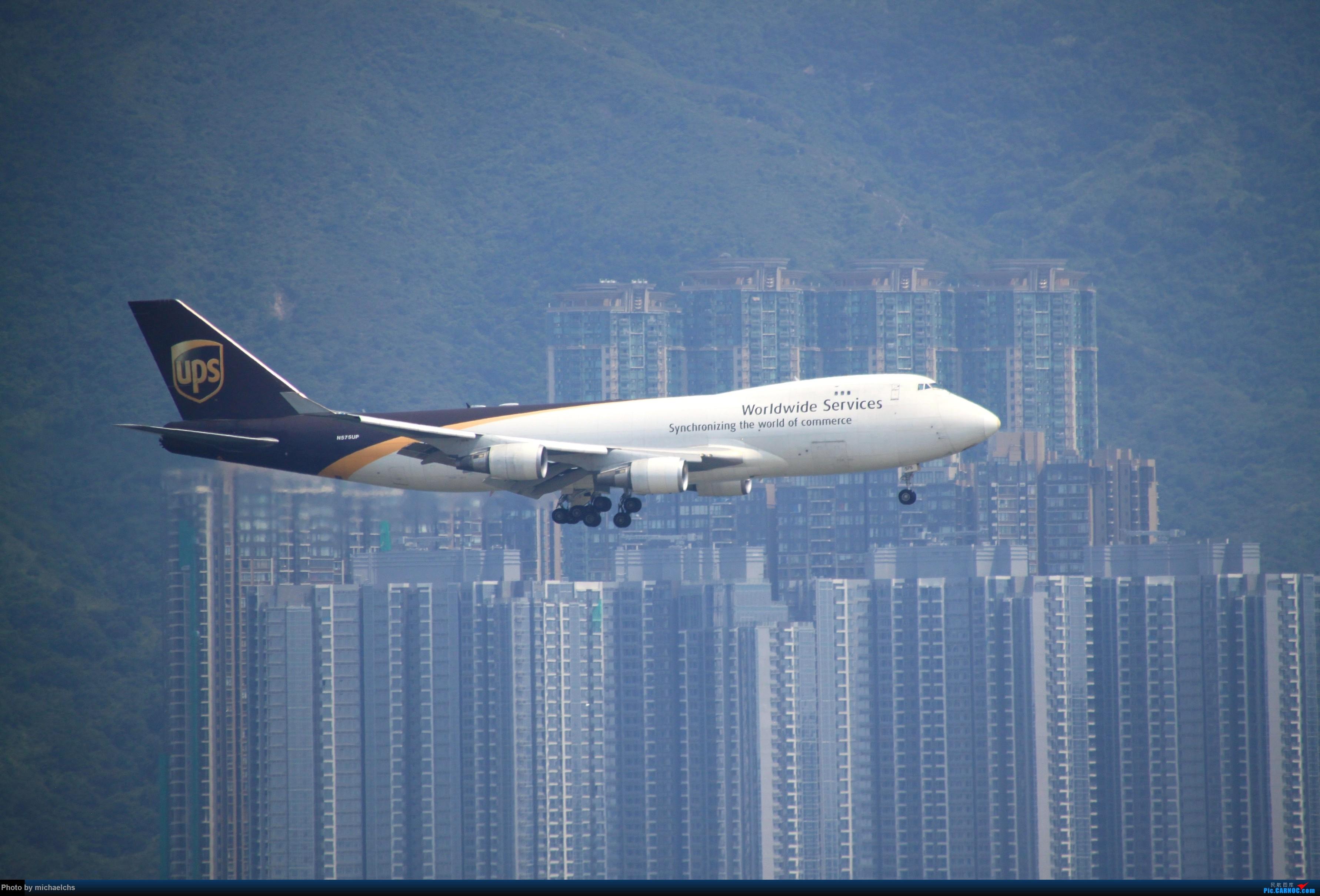 Re:[原创]HKG台风前夕拍机 BOEING 747-400 N575UP 中国香港国际机场