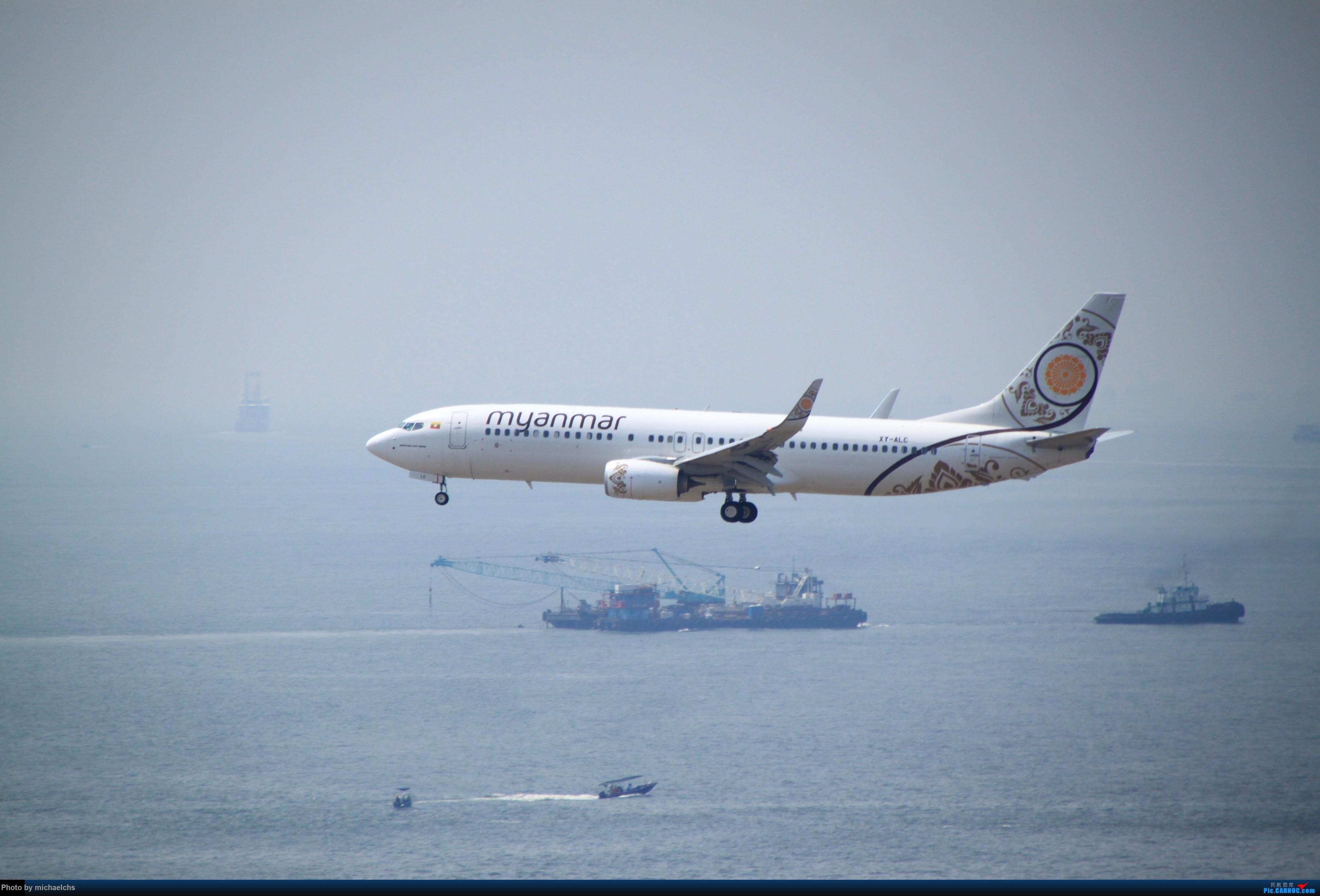 Re:[原创]HKG台风前夕拍机 BOEING 737-800 XY-ALC 香港国际机场