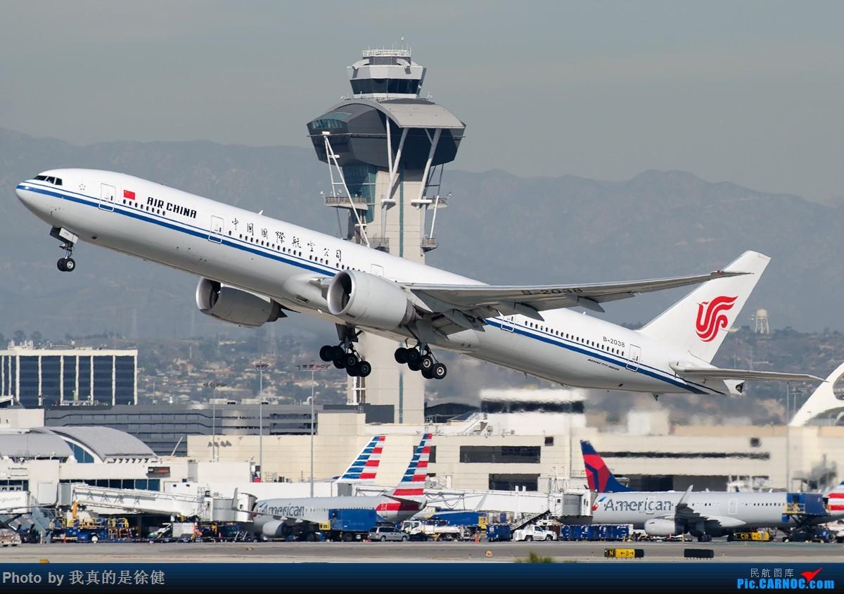 Re:[原创]【多图党】1200x800 中国国际航空 Boeing777-300ER 20架 BOEING 777-300ER B-2038 美国洛杉矶机场