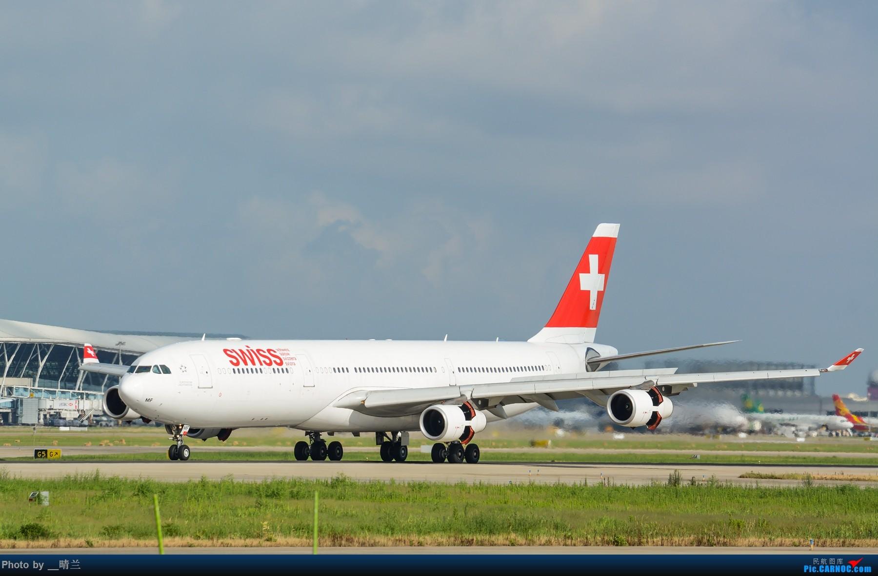 Re:[多图党]迟交的作业,PVG久违的蓝天白云 AIRBUS A340-300 HB-JMF 中国上海浦东国际机场