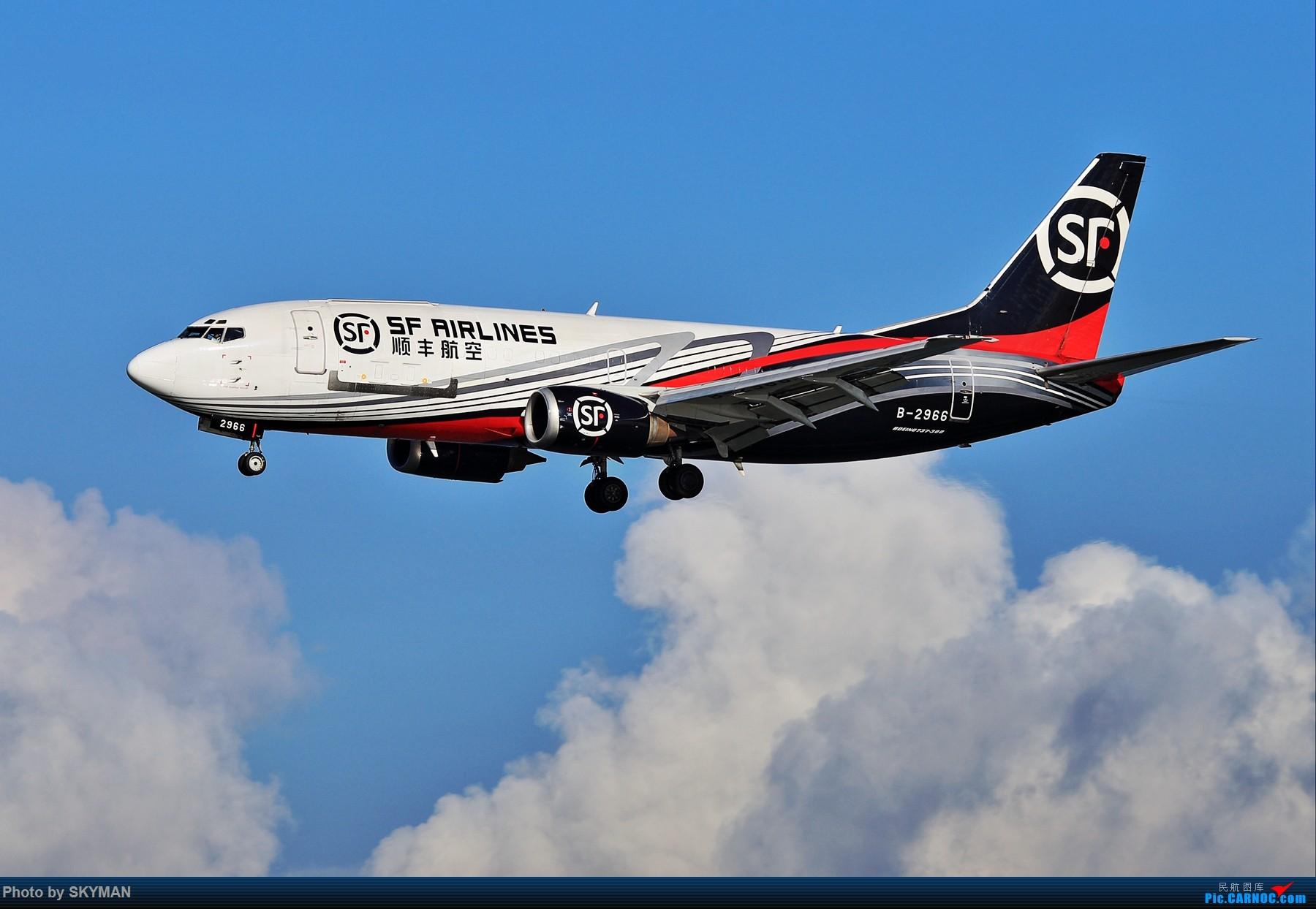 [原创]顺丰7375767 BOEING 737-300 B-2966 中国深圳宝安国际机场