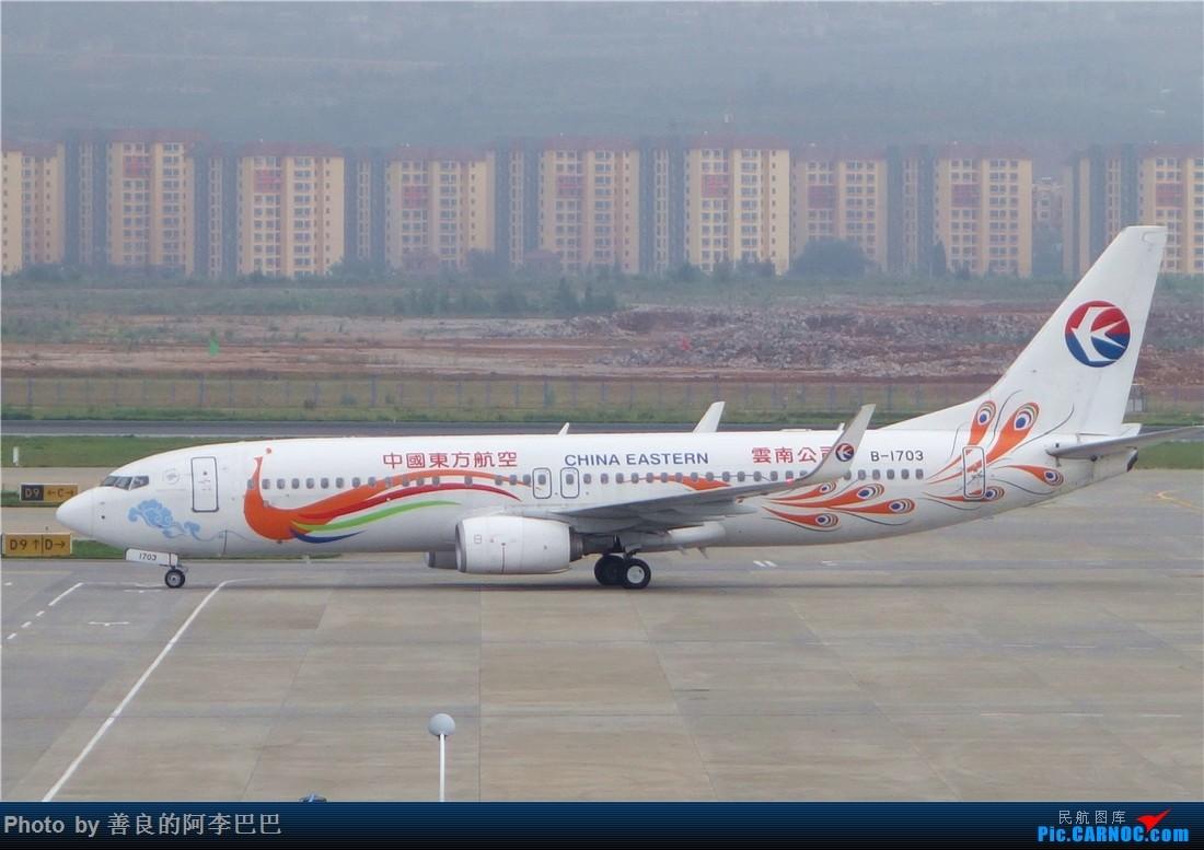 Re:[原创]昆明大雨航站楼看飞机 BOEING 737-800 B-1703 中国昆明长水国际机场
