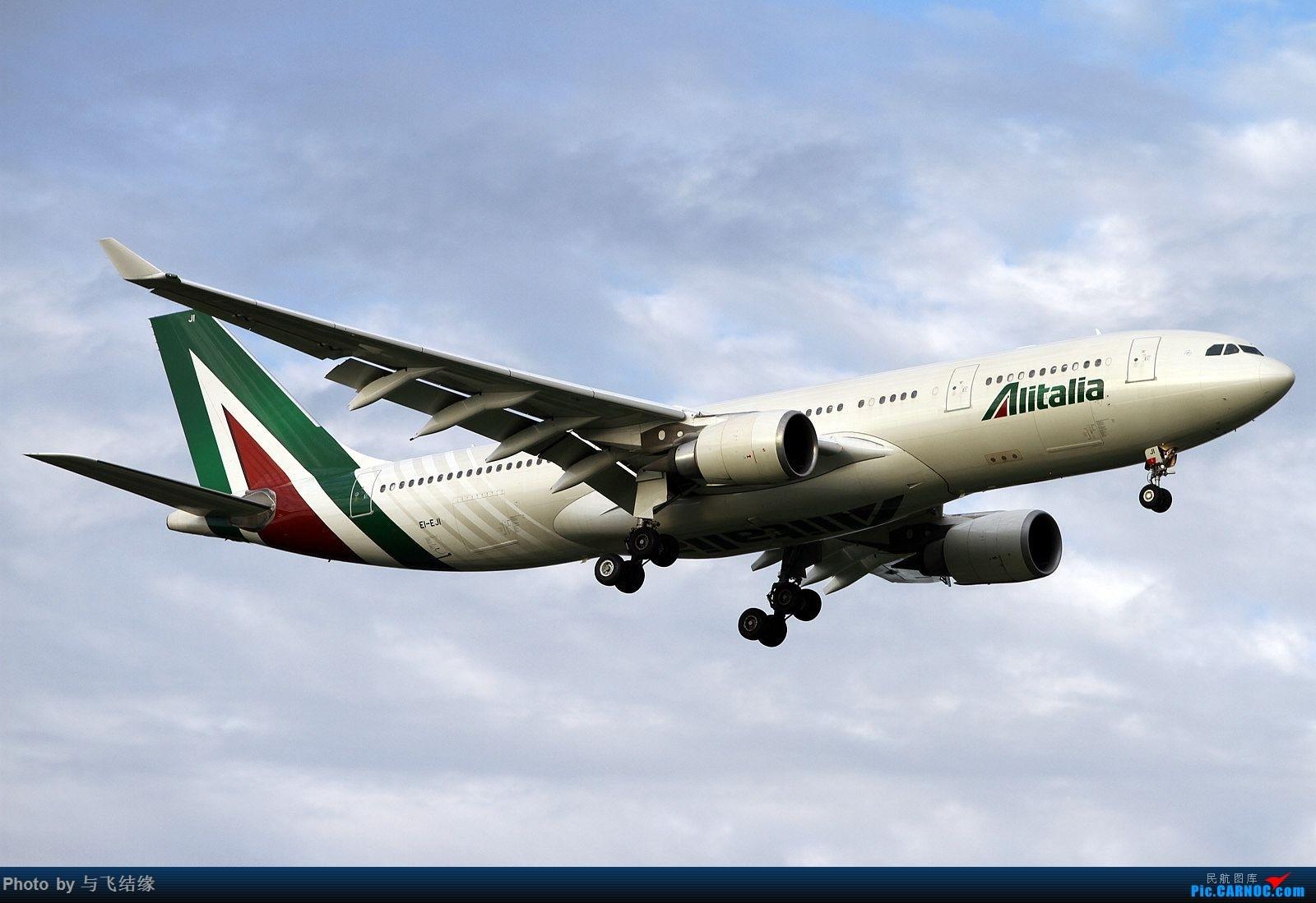 [原创]新旧涂装的意大利航空空客A332四图。 AIRBUS A330-200 EI-EJI 中国北京首都国际机场