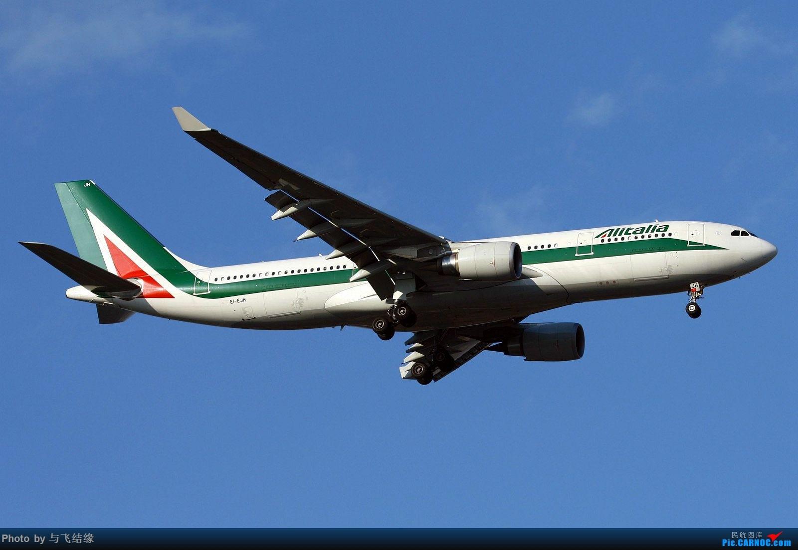 Re:[原创]新旧涂装的意大利航空空客A332四图。 AIRBUS A330-200 EI-EJH 中国北京首都国际机场
