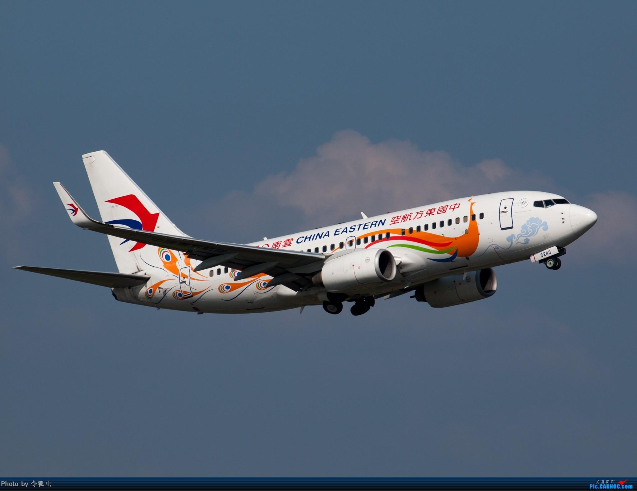 [原创]漂亮的东航737孔雀机 BOEING 737-700 B-5243 中国成都双流国际机场