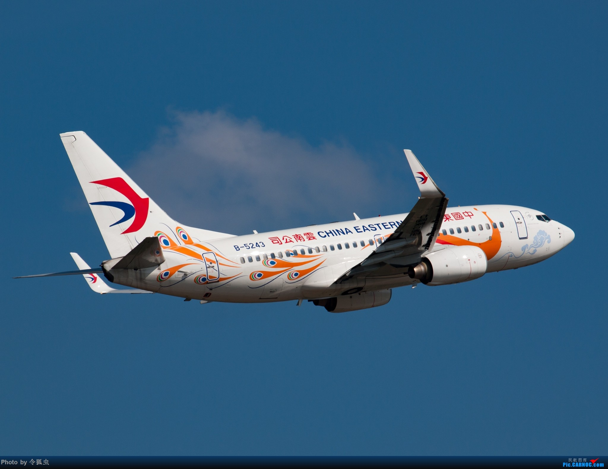 Re:[原创]漂亮的东航737孔雀机 BOEING 737-700 B-5243 中国成都双流国际机场