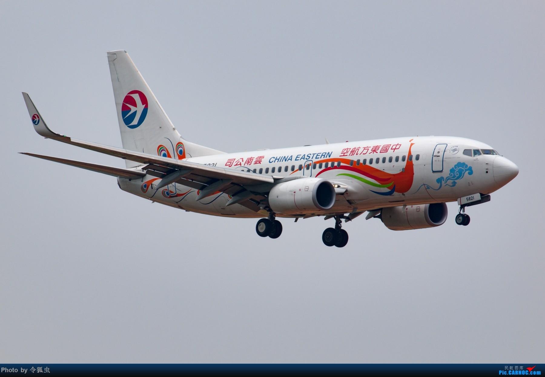 Re:[原创]漂亮的东航737孔雀机 BOEING 737-700 B-5821 中国成都双流国际机场