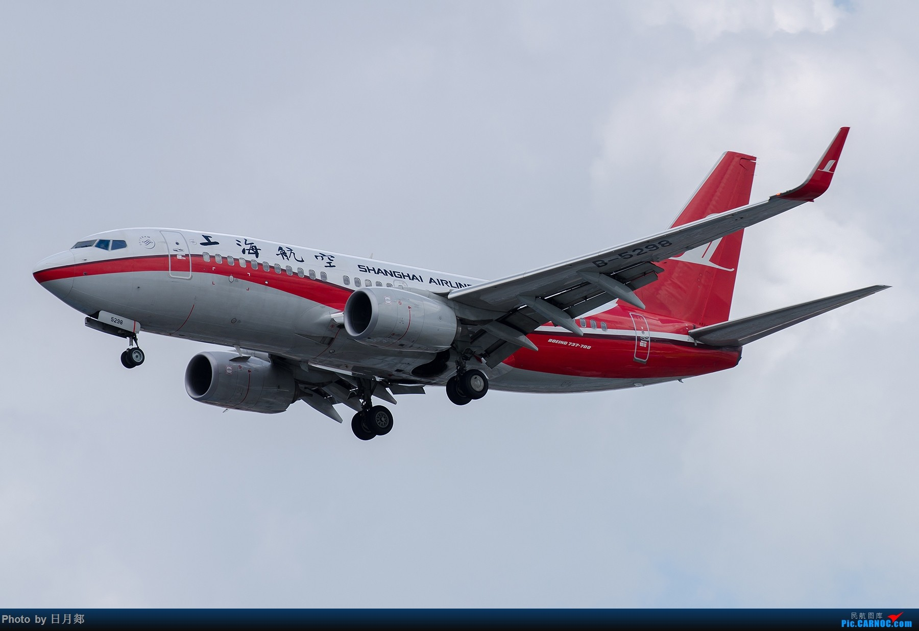 Re:[原创]【SHA拍机*1800大图】图要抓紧发,不然就要炒冷饭,大头镇贴 BOEING 737-700 B-5298 中国上海虹桥国际机场