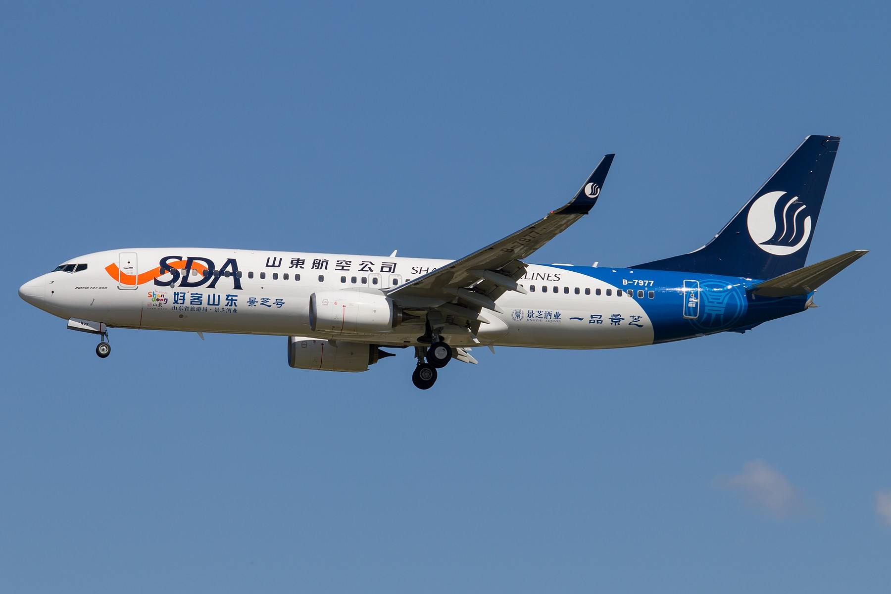 [原创][一图党] 山东航空 景芝号 1800*1200 BOEING 737-800 B-7977 中国北京首都国际机场