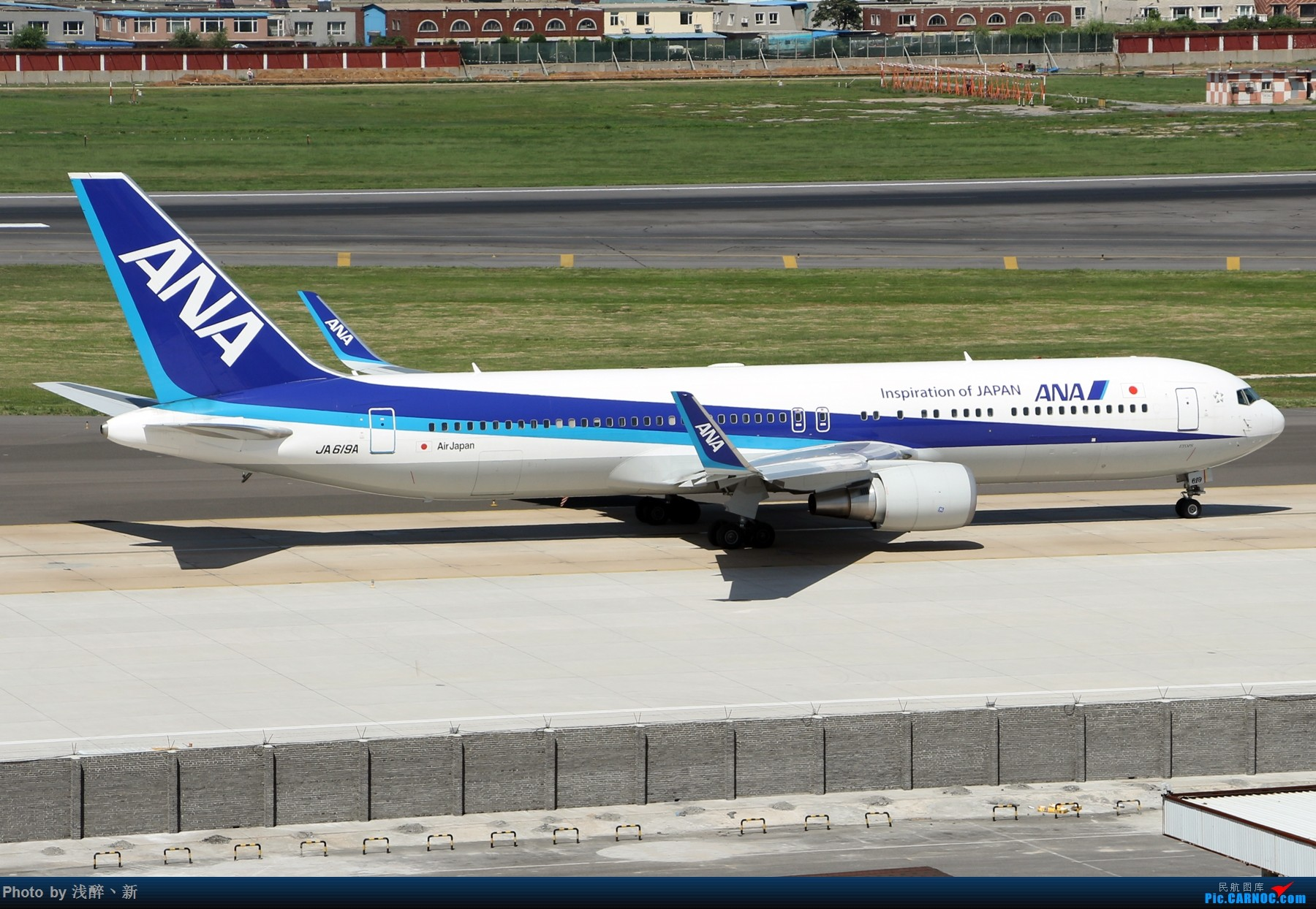 Re:[原创]DLC 8.26 日常[补] BOEING 767-300ER JA619A 中国大连国际机场