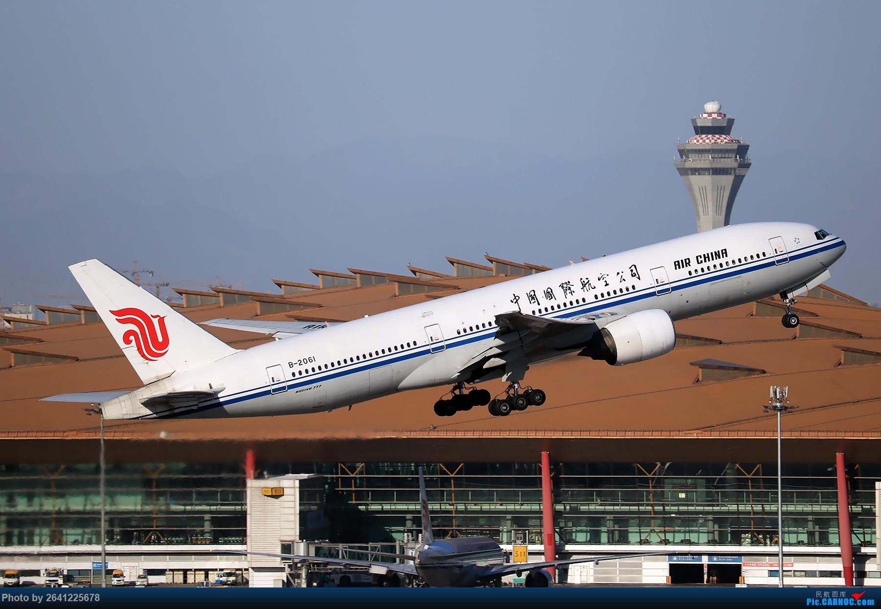 Re:[原创]【pek】这光线真令人舒服 BOEING 777-200 B-2061 中国北京首都国际机场