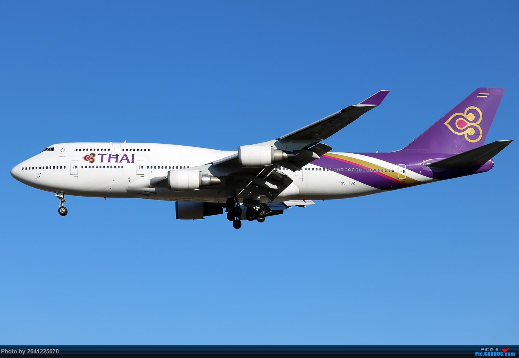 [原创]【一图党】泰国国际航空B747-400 HS-TGZ 1800*1200 BOEING 747-400 HS-TGZ 中国北京首都国际机场