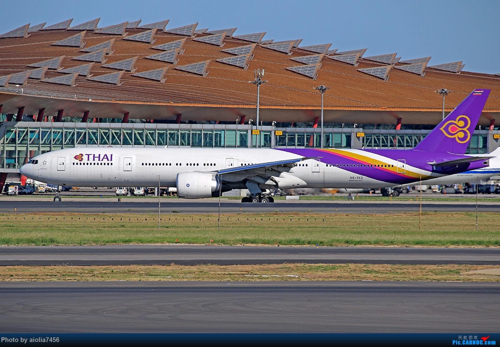 Re:[原创]合肥飞友会[霸都飞友会]冷风过境,吹回了久违的蓝天,而我刚刚好路过PEK BOEING 777-300ER HS-TKZ 中国北京首都国际机场
