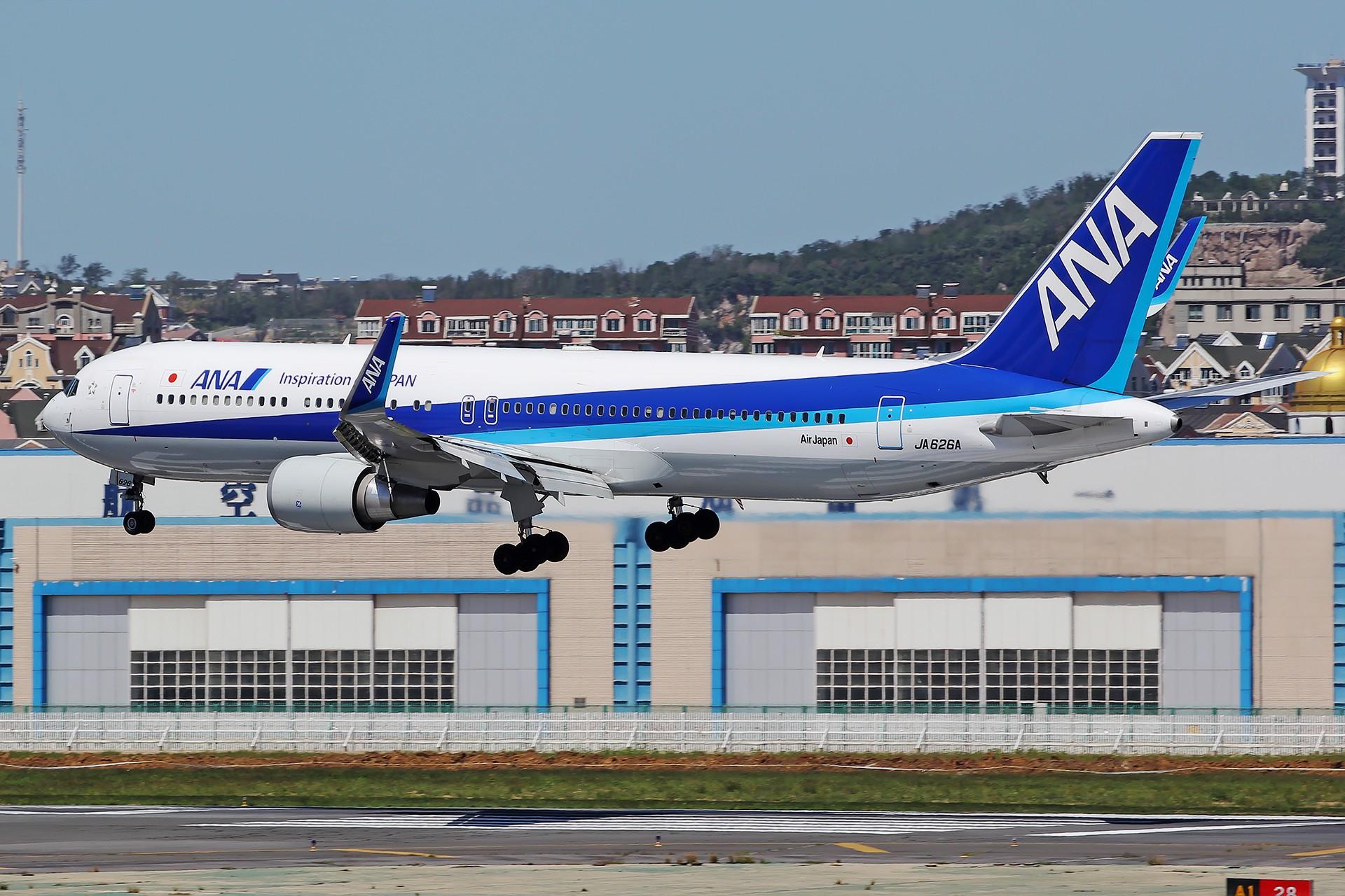 [原创][原创][DLC]。。。全日空 。。。 BOEING 767-300ER JA626A 中国大连国际机场
