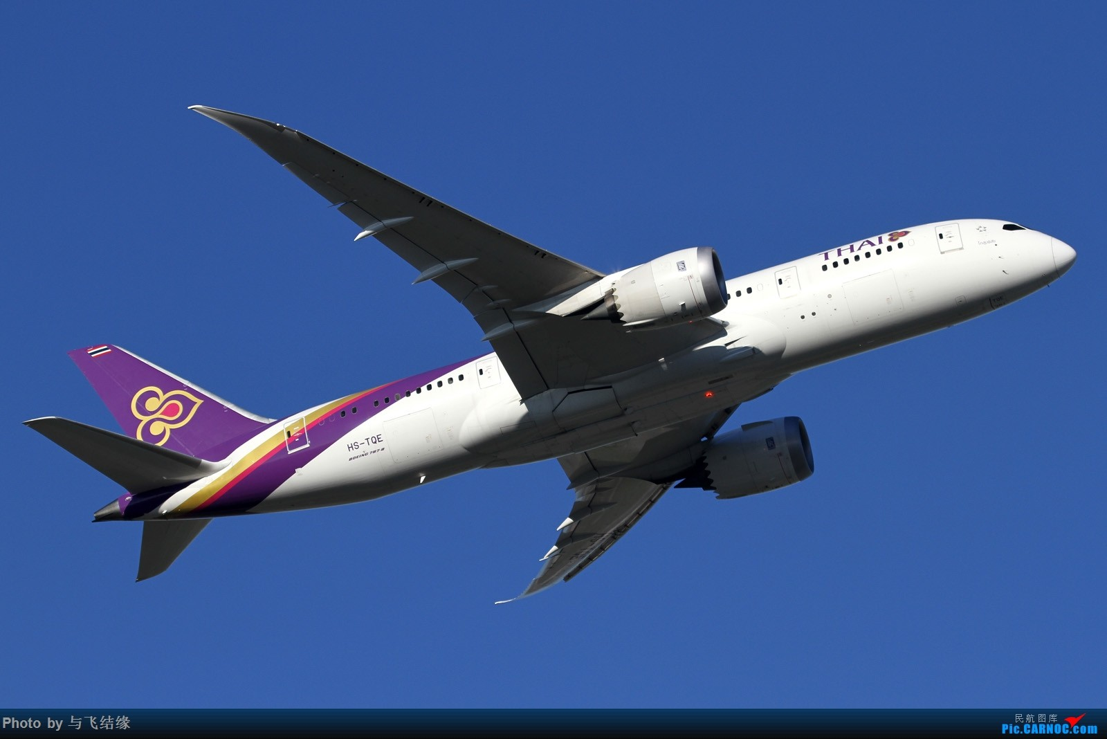 Re:[原创]北京蓝与泰航梦想飞机! BOEING 787-8 HS-TQE 中国北京首都国际机场