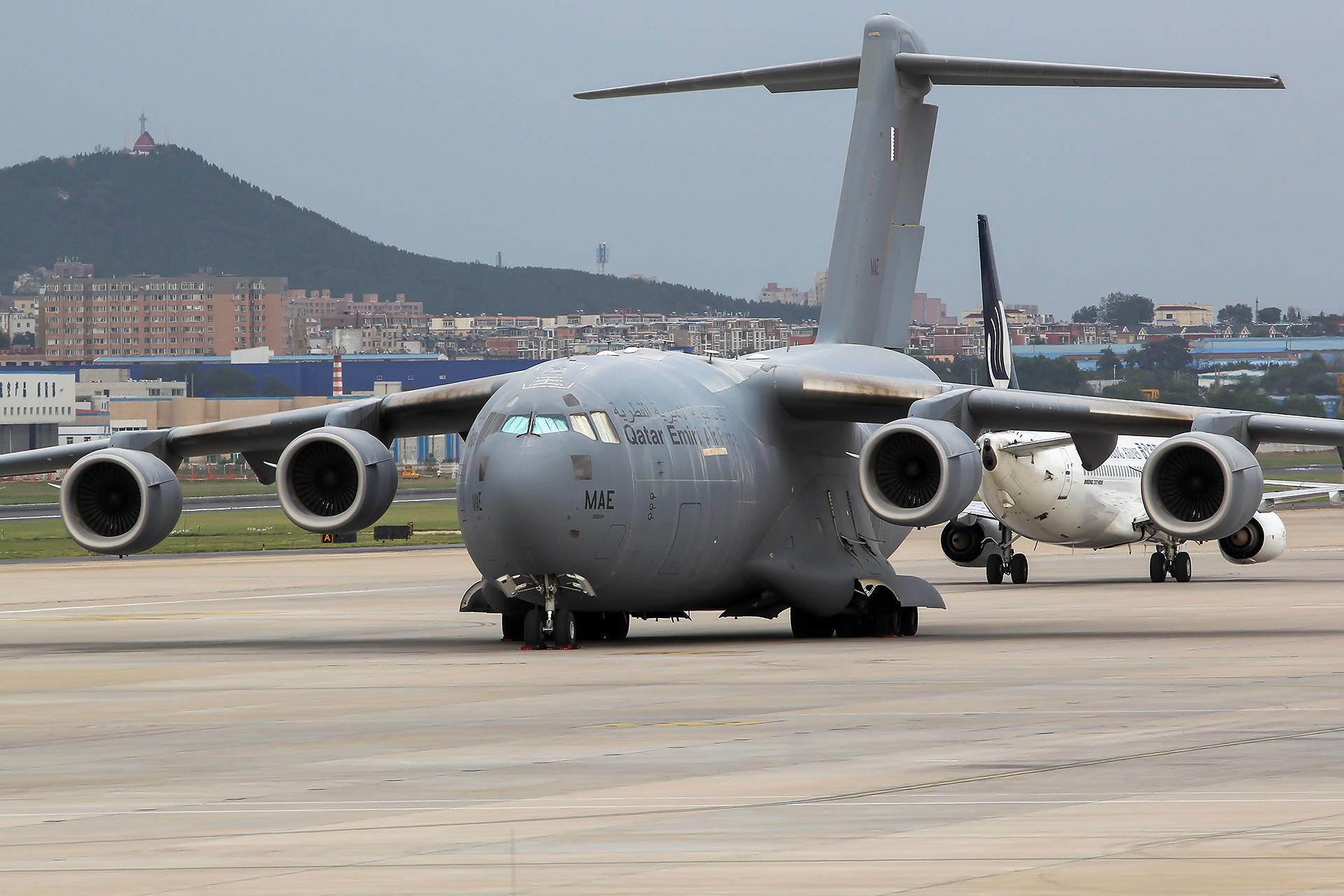 [原创][DLC]。。。DLC C17(三)。。。 BOEING C-17A GLOBEMASTERIII  中国大连国际机场