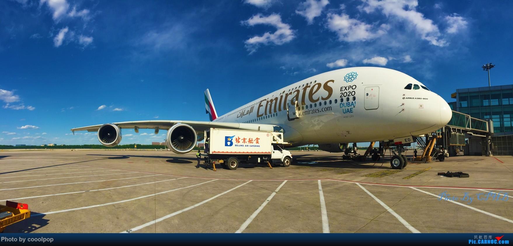 [原创]帝都天气好的时候是这样的! AIRBUS A380-800 A6-EED 中国北京首都国际机场
