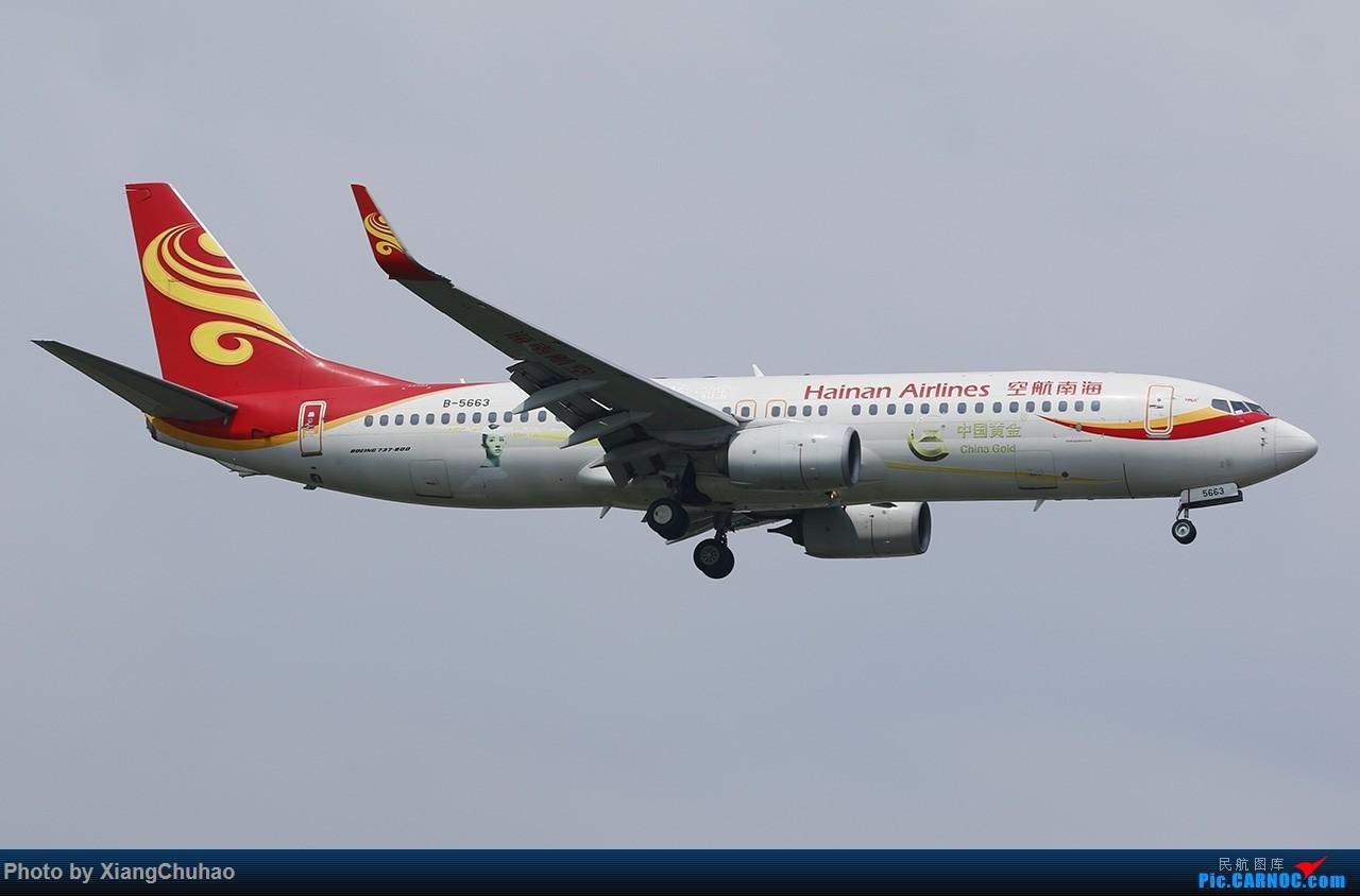 Re:[原创]海南航空中国黄金号 BOEING 737-800 B-5663 中国温州龙湾国际机场