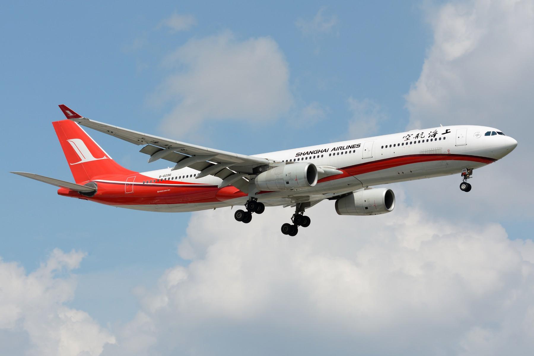 [原创]【SHA】上海航空A330-300机队 B-6096 B-6097 B-6127 AIRBUS A330-300 B-6096 中国上海虹桥国际机场