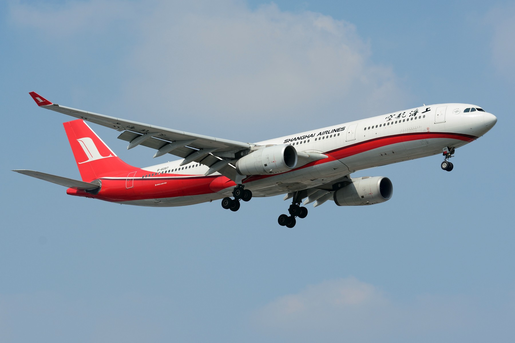 Re:[原创]【SHA】上海航空A330-300机队 B-6096 B-6097 B-6127 AIRBUS A330-300 B-6097 中国上海虹桥国际机场