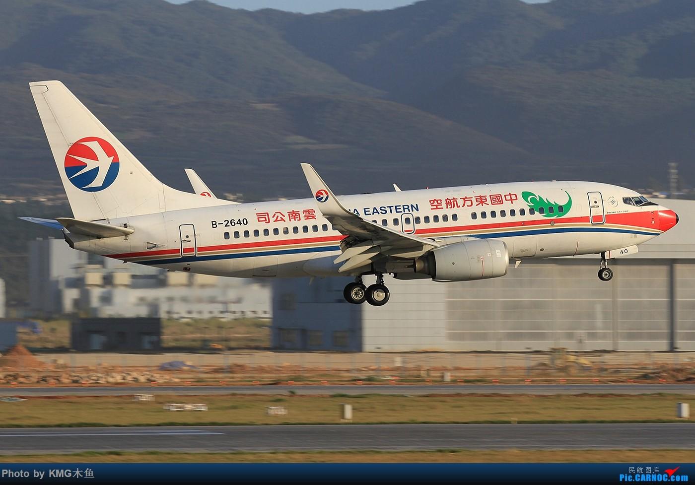 Re:[原创]【昆明长水国际机场-KMG木鱼拍机】啥时候能晴天,我想拍飞机了 BOEING 737-700 B-2640 中国昆明长水国际机场