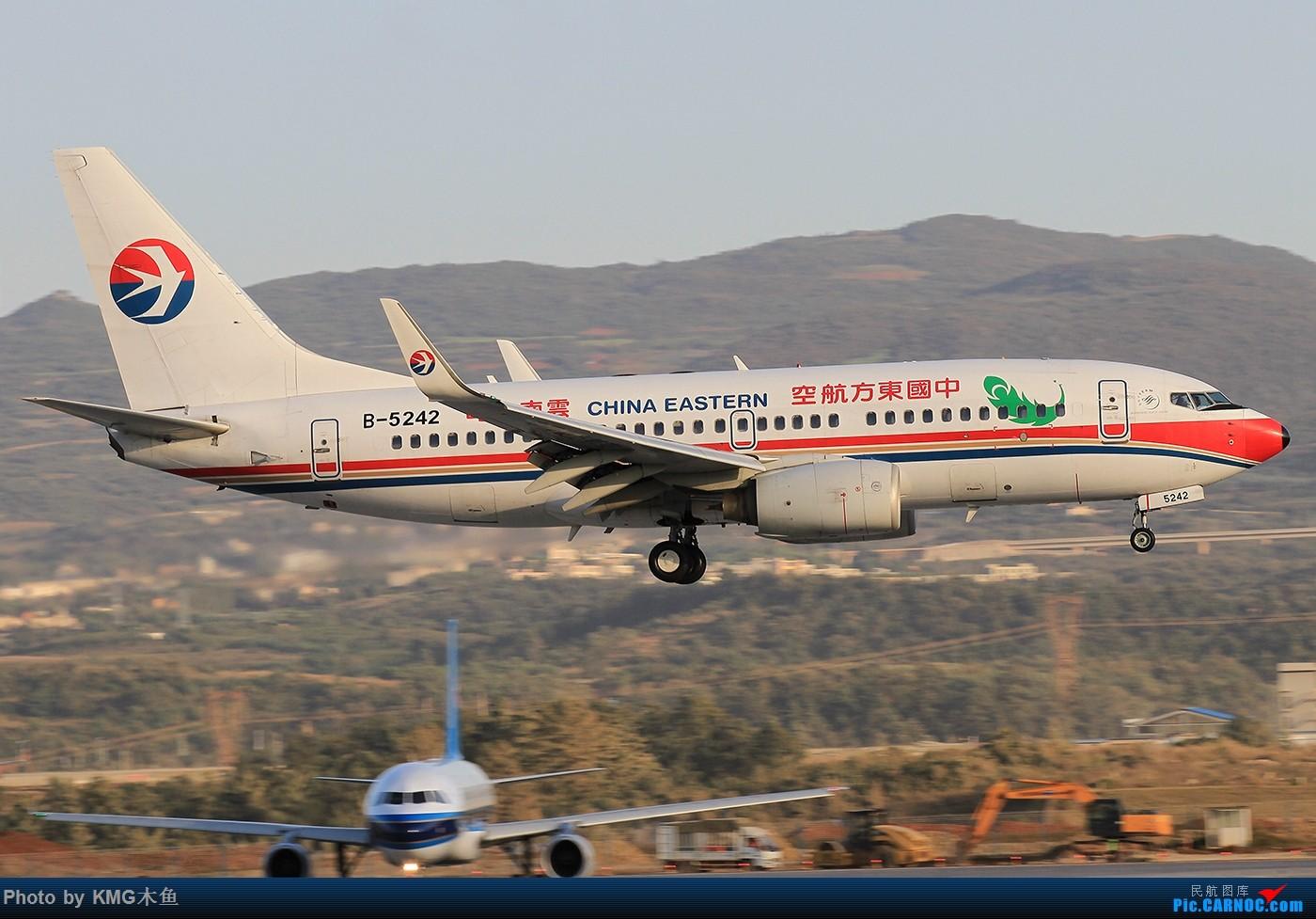 Re:[原创]【昆明长水国际机场-KMG木鱼拍机】啥时候能晴天,我想拍飞机了 BOEING 737-700 B-5242 中国昆明长水国际机场