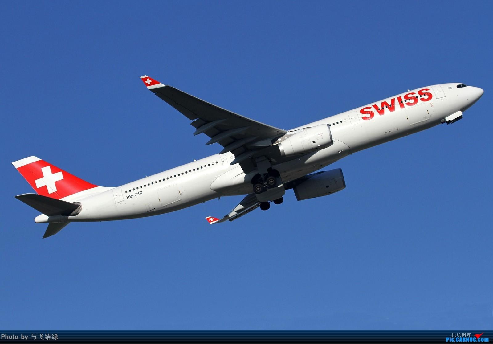 [原创]瑞士航空Airbus A330-300腾空而起+雪绒花! AIRBUS A330-300 HB-JHD 中国北京首都国际机场