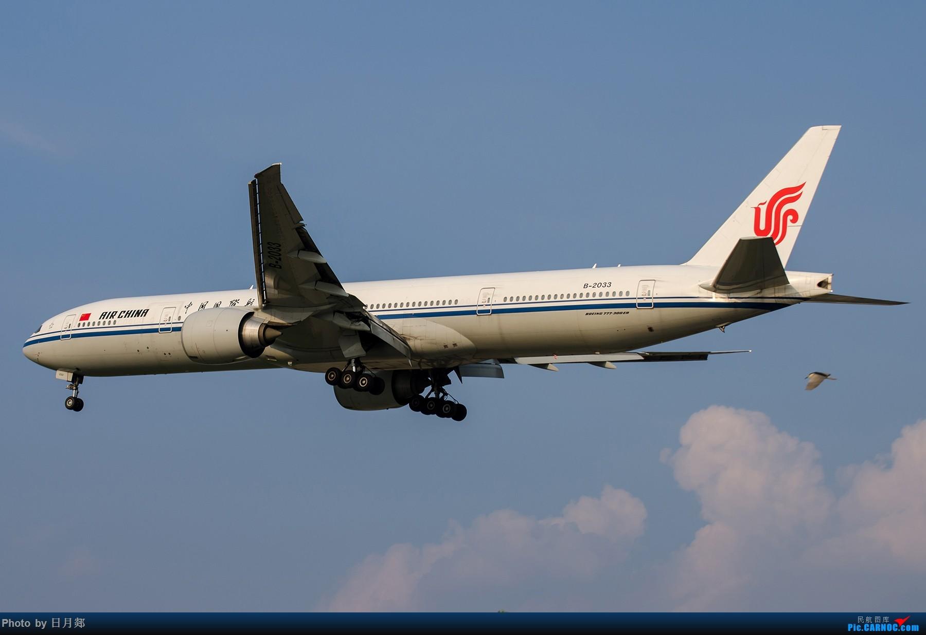 【SHA拍机*1800大图】一图党,夕阳下的双飞 BOEING 777-300ER B-2033 中国上海虹桥国际机场