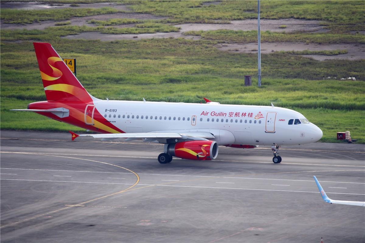 airbus a319-100 b-6193 中国桂林两江国际机场图片