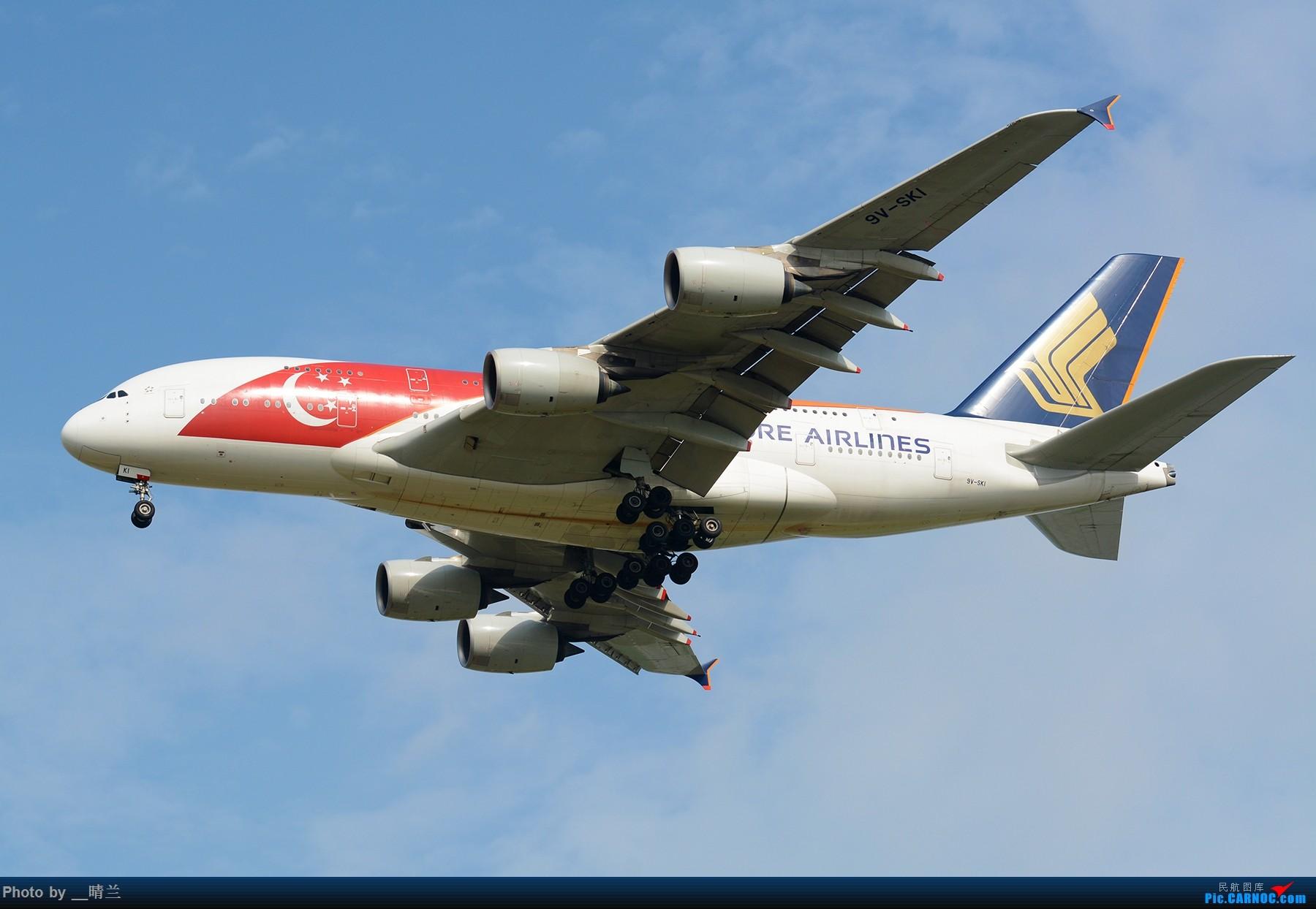 Re:[二图党]PVG-既然今天是F1新加坡大奖赛正赛,那么我们多放几只彩绘去PVG吧~~ AIRBUS A380-800 9V-SKI 中国上海浦东国际机场