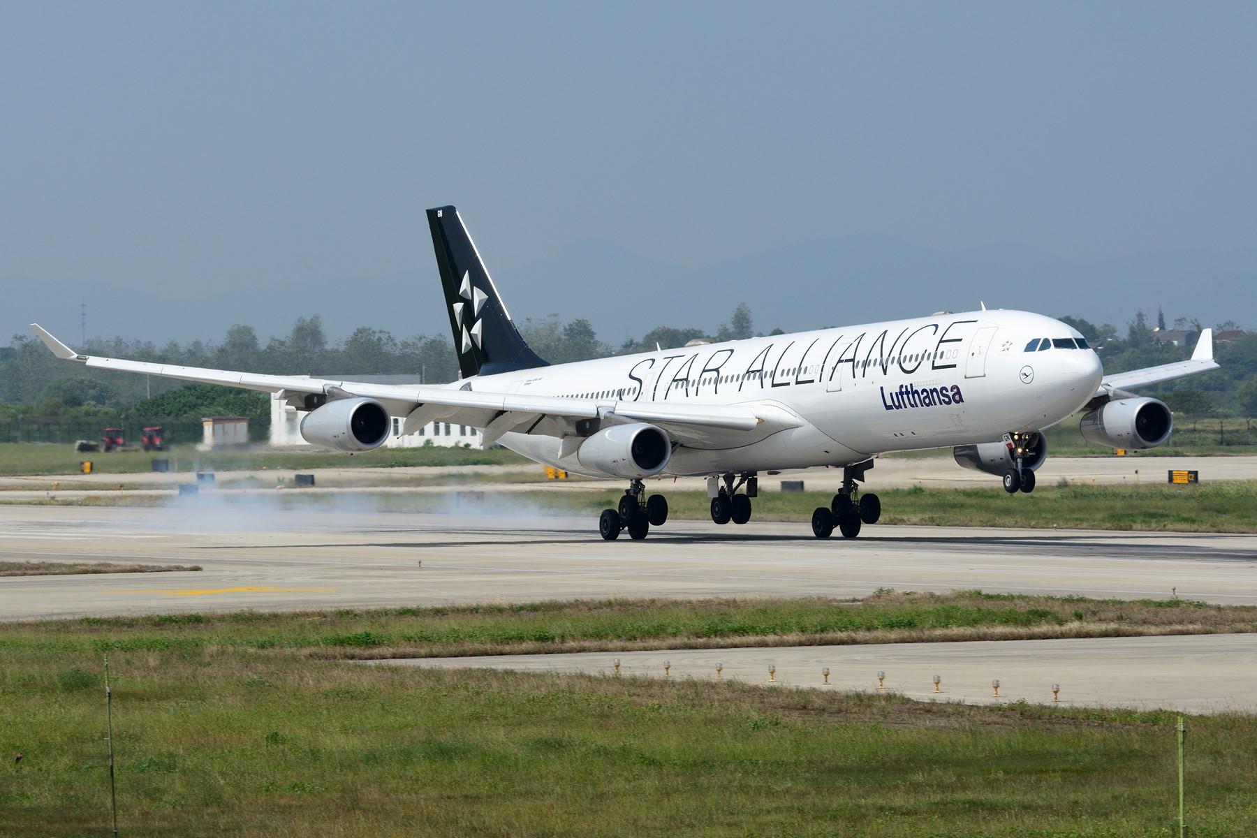 【NKG】初探NKG 07头,结果很给面子地来了两架大猩猩 AIRBUS A340-300 D-AIGN 中国南京禄口国际机场