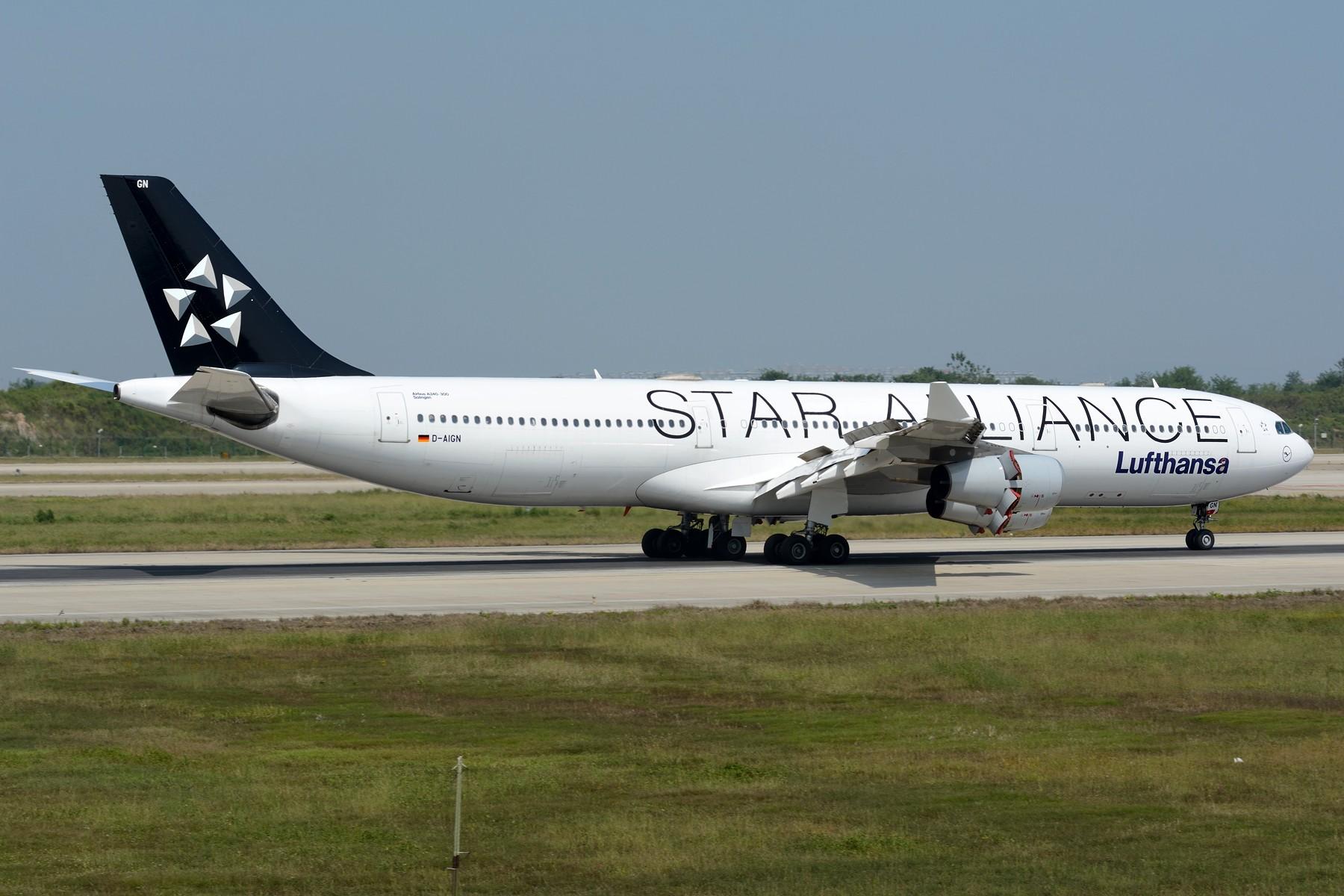 Re:[原创]【NKG】初探NKG 07头,结果很给面子地来了两架大猩猩 AIRBUS A340-300 D-AIGN 中国南京禄口国际机场