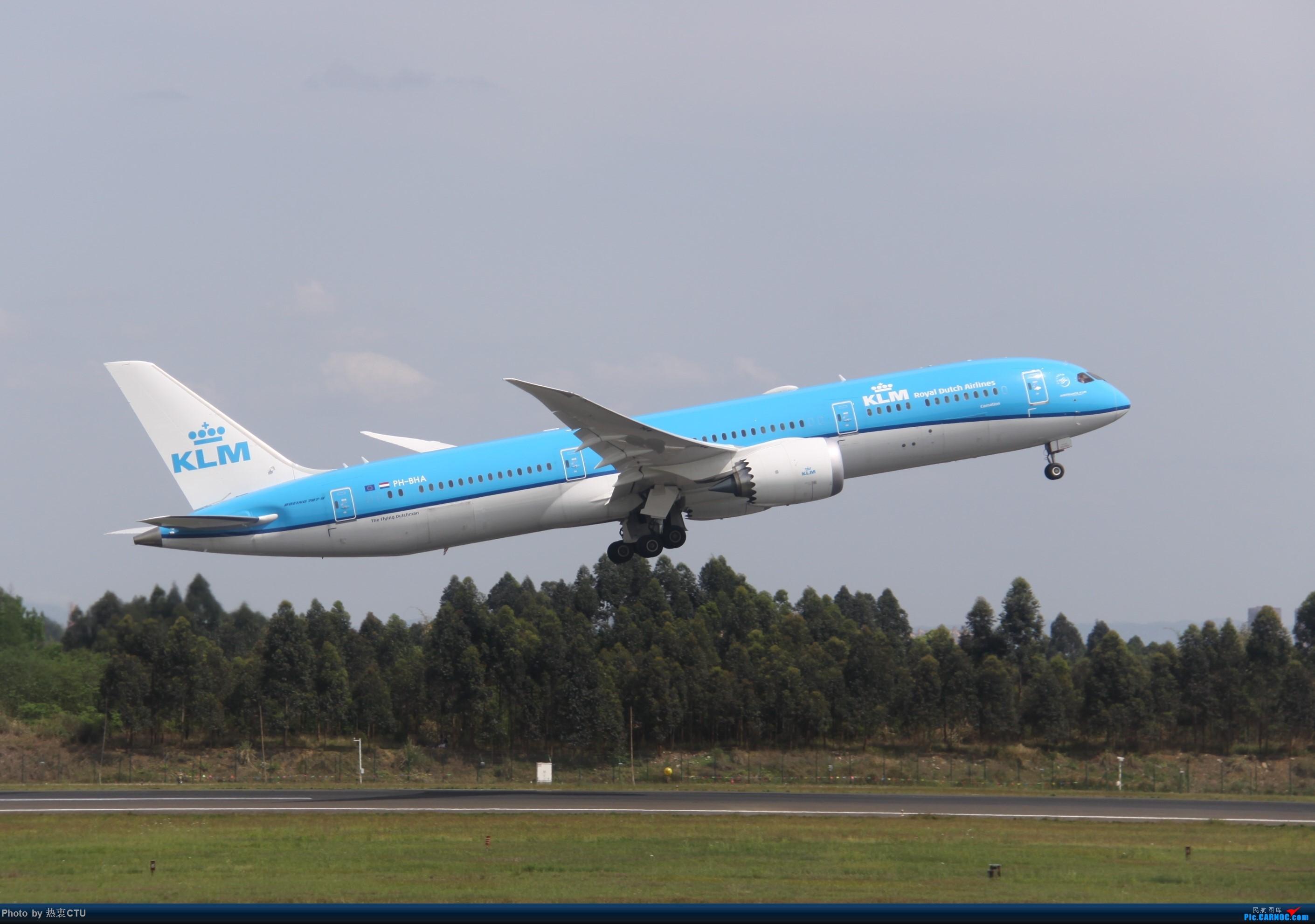 CTU又一新人二跑道拍机合集 BOEING 787-9 PH-BHA 中国成都双流国际机场