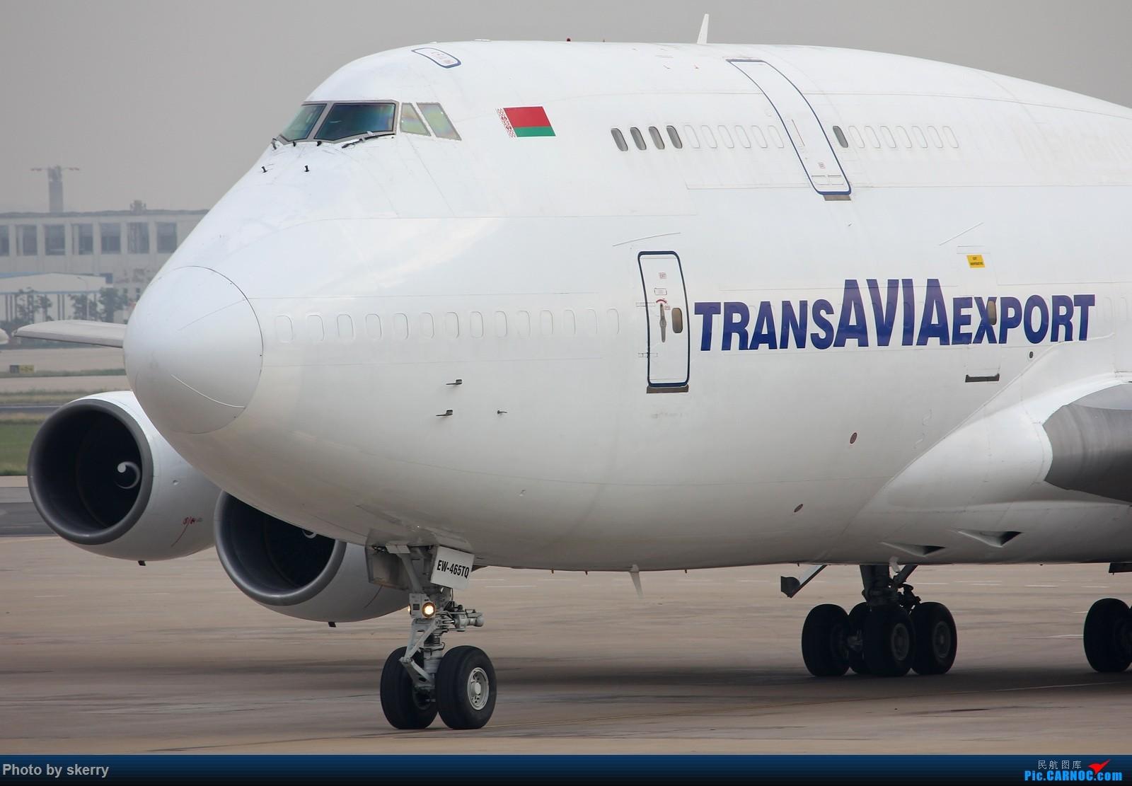 [原创]**【TSN飞友会】白俄罗斯的飞机真白!*** BOEING 747-300 EW-465TQ 中国天津滨海国际机场