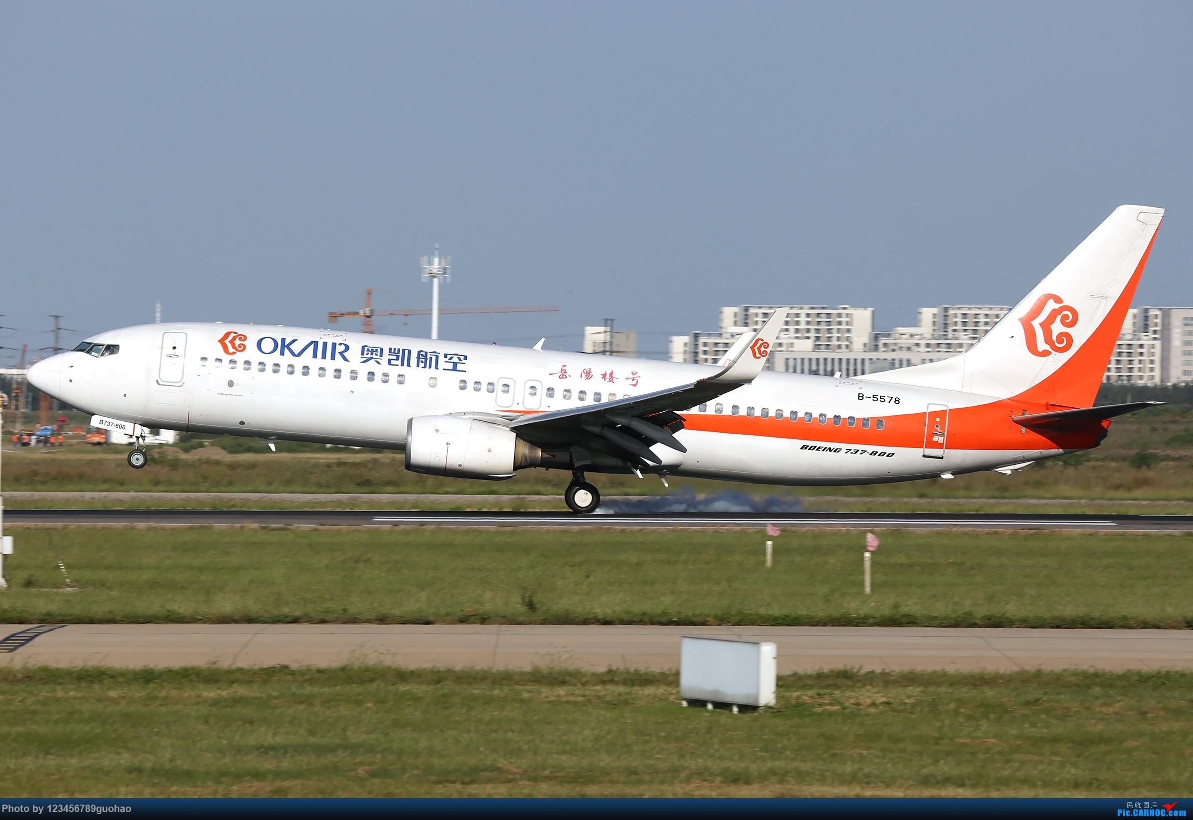 Re:[原创]TSN多图-后脚着地 BOEING 737-800 B-5578 天津滨海国际机场