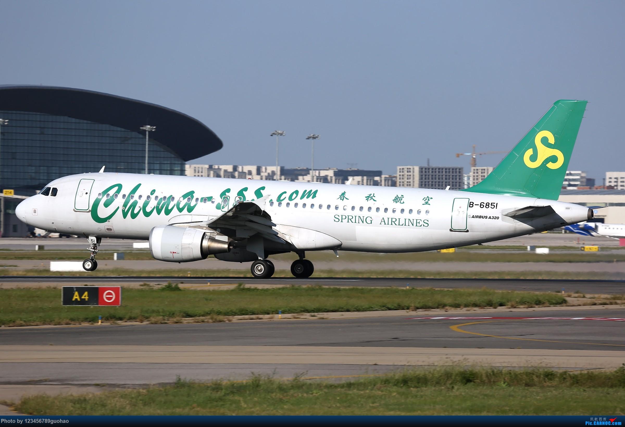 Re:TSN多图-后脚着地 AIRBUS A320-200 B-6851 天津滨海国际机场