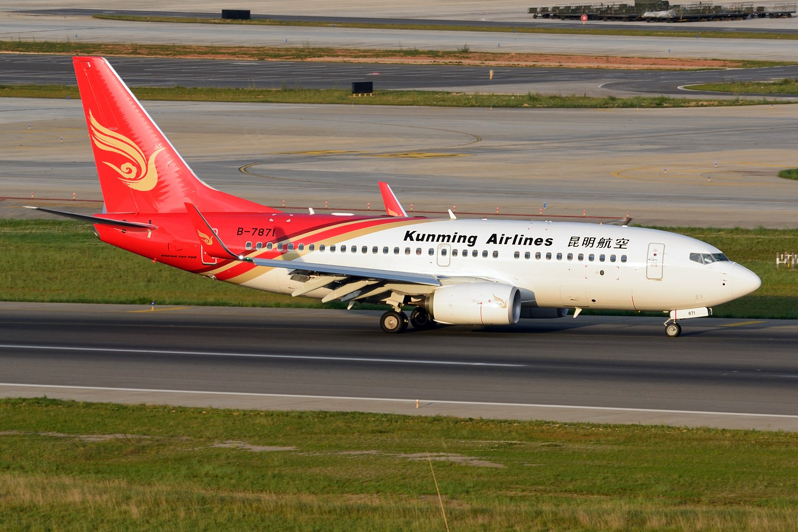 Re:[原创]【KMG】发几张长水的存货,提前祝大家国庆快乐~~~ BOEING 737-700 B-7871 中国昆明长水国际机场