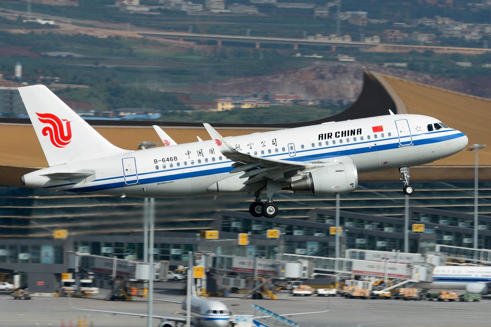 Re:[原创]【KMG】发几张长水的存货,提前祝大家国庆快乐~~~ AIRBUS A319-100 B-6468 中国昆明长水国际机场