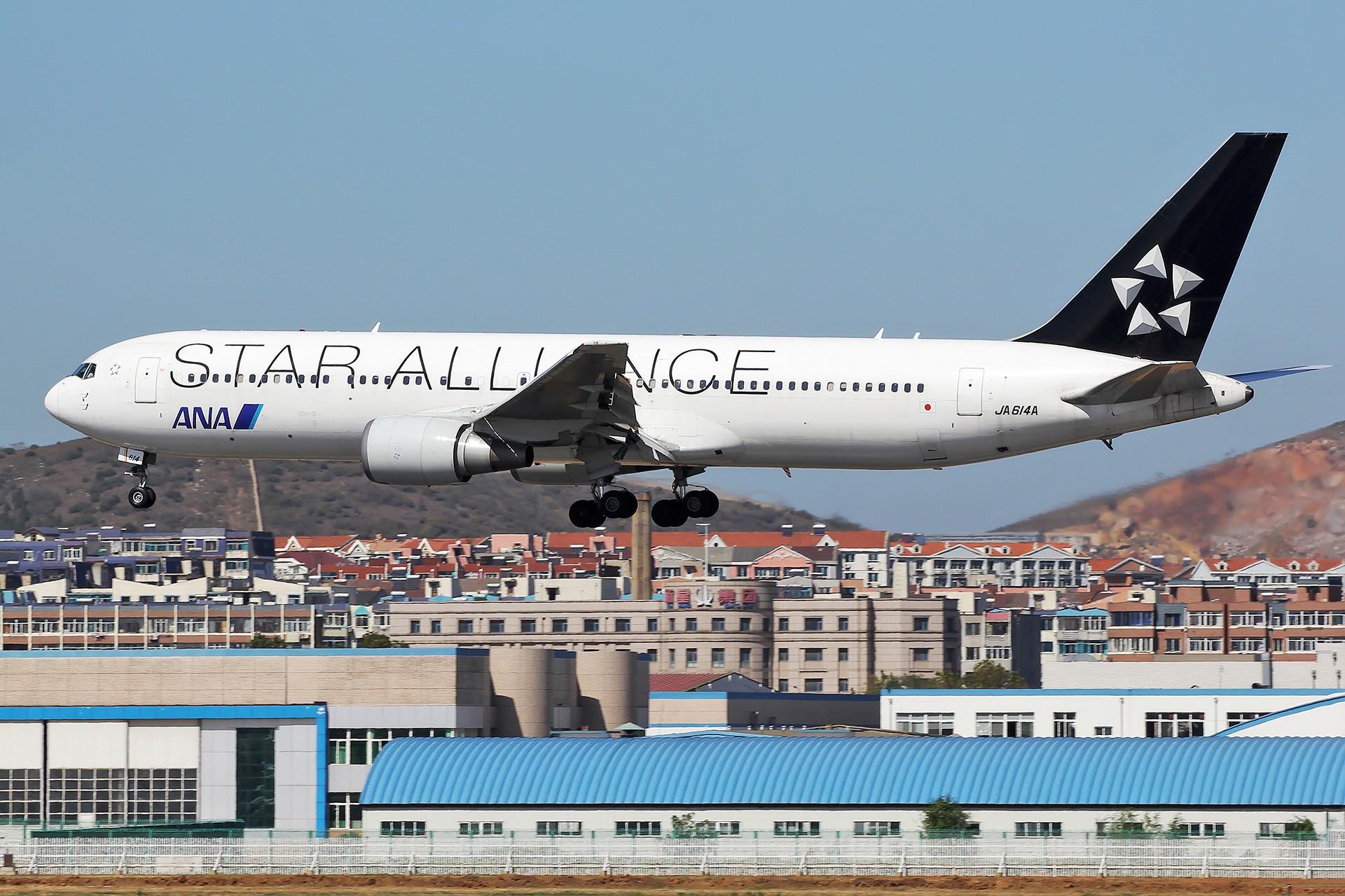 Re:[原创][DLC]。。。三架飞机两个联盟 。。。 BOEING 767-300ER JA614A 中国大连国际机场