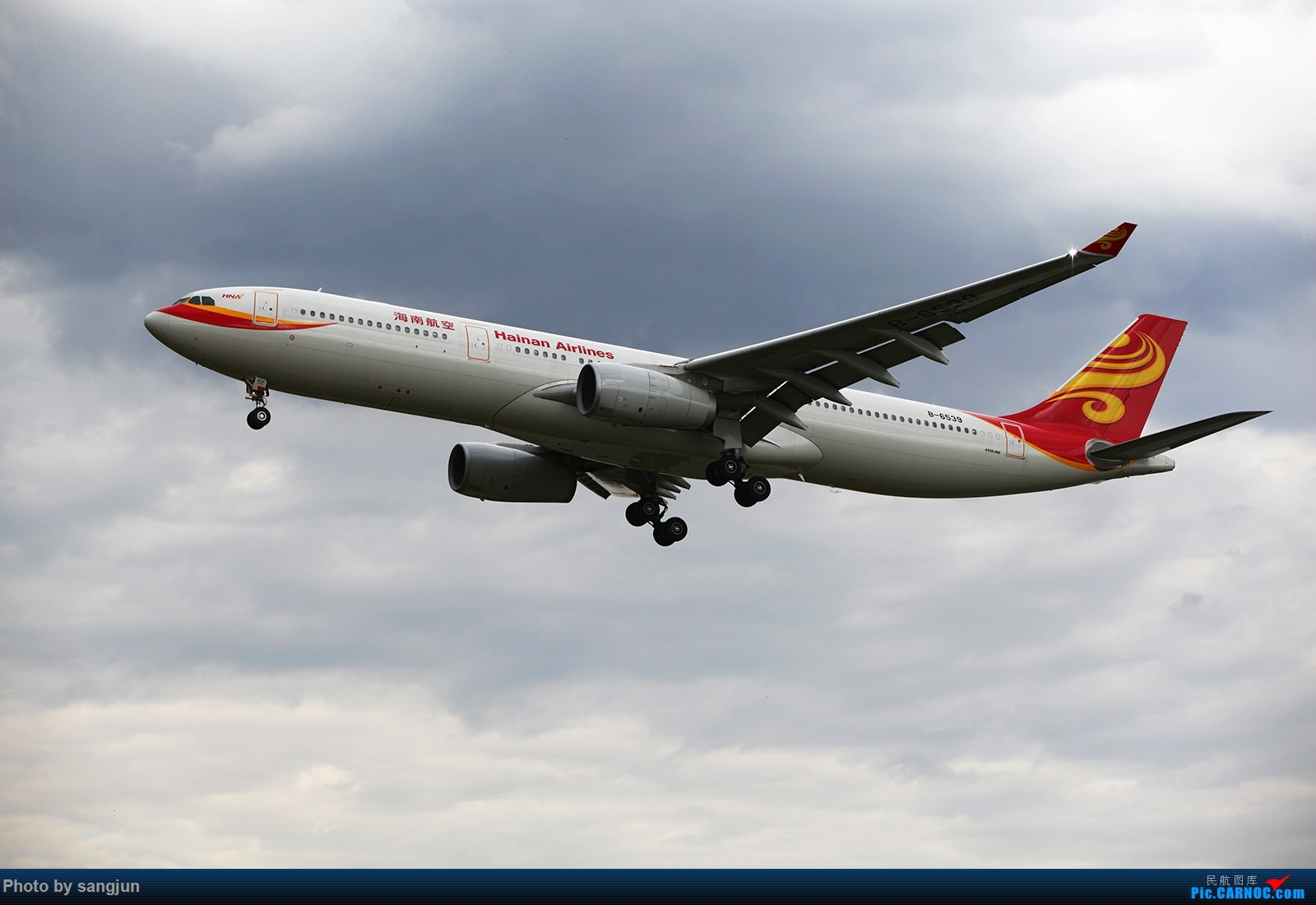 Re:PEK乌云下的那一盘西红柿炒鸡蛋[一组海航的大家伙们] AIRBUS A330-300 B-6539 中国北京首都国际机场