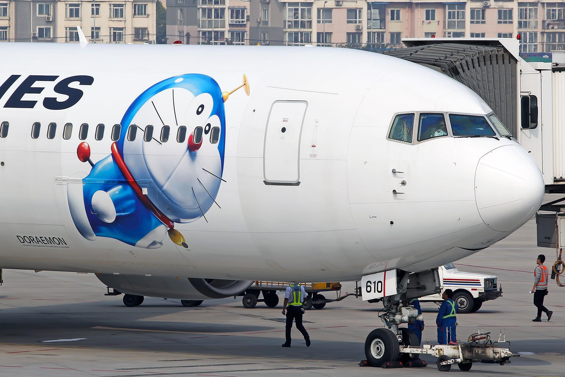 [原创][DLC]。。。JAL 哆啦A梦 。。。 BOEING 767-300 JA610J 中国大连国际机场