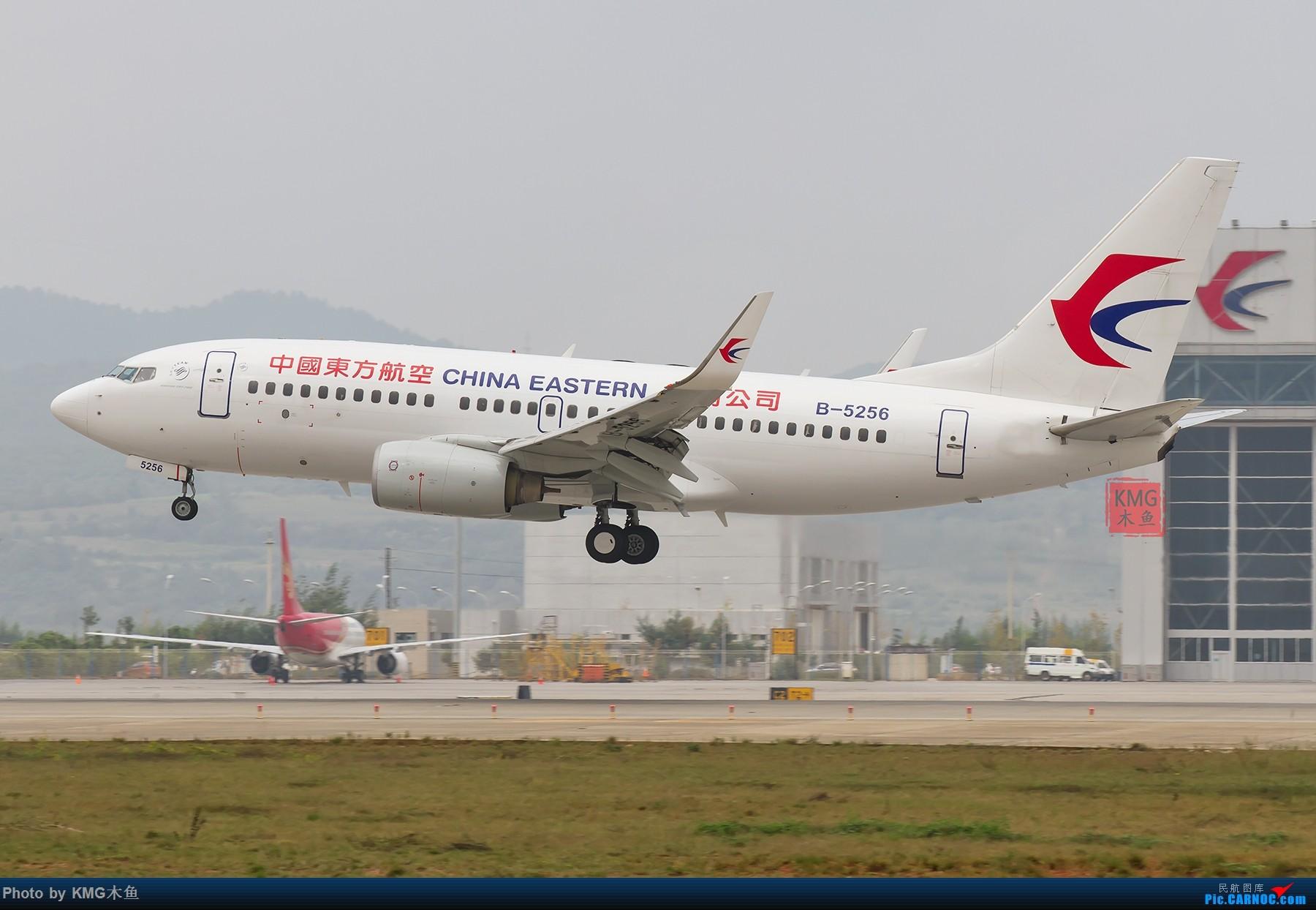 Re:[原创]【昆明长水国际机场—KMG木鱼10.16日拍机】周末拍机,有宽体,有彩绘,少了小伙伴们,独自一人拍机 BOEING 737-700 B-5256 中国昆明长水国际机场