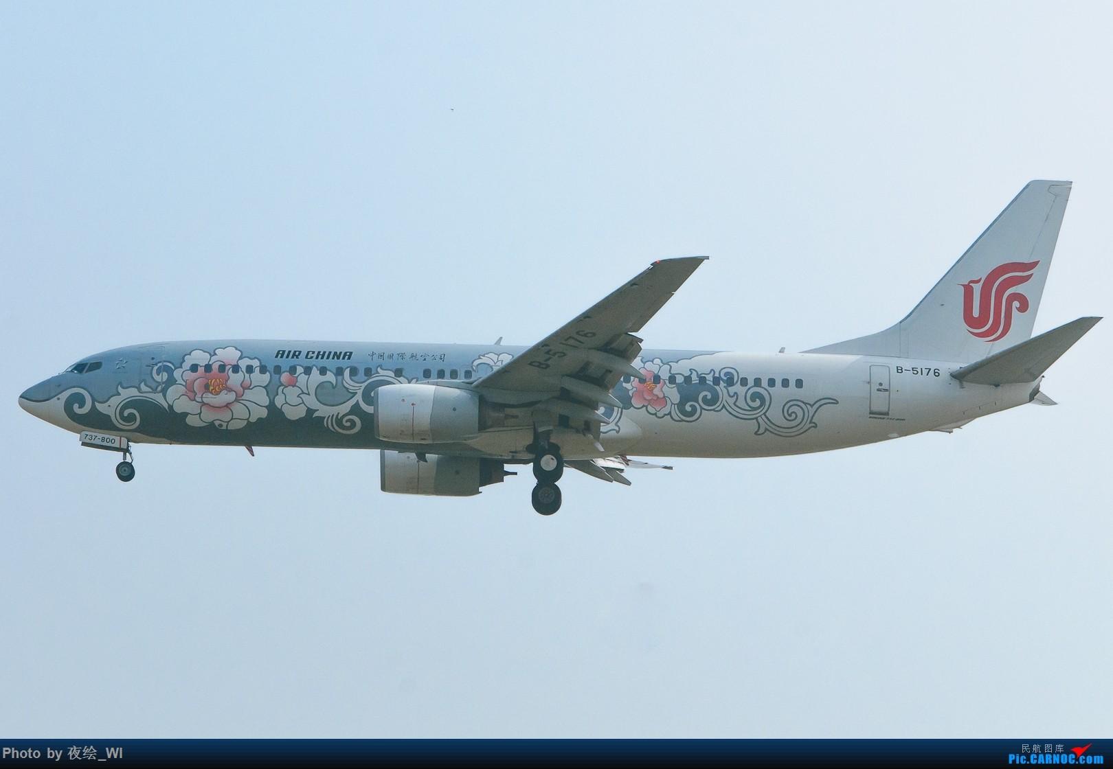 [原创]【PEK】十月初雾霾下的国航牡丹及787 BOEING 737-800 B-5176 中国北京首都国际机场