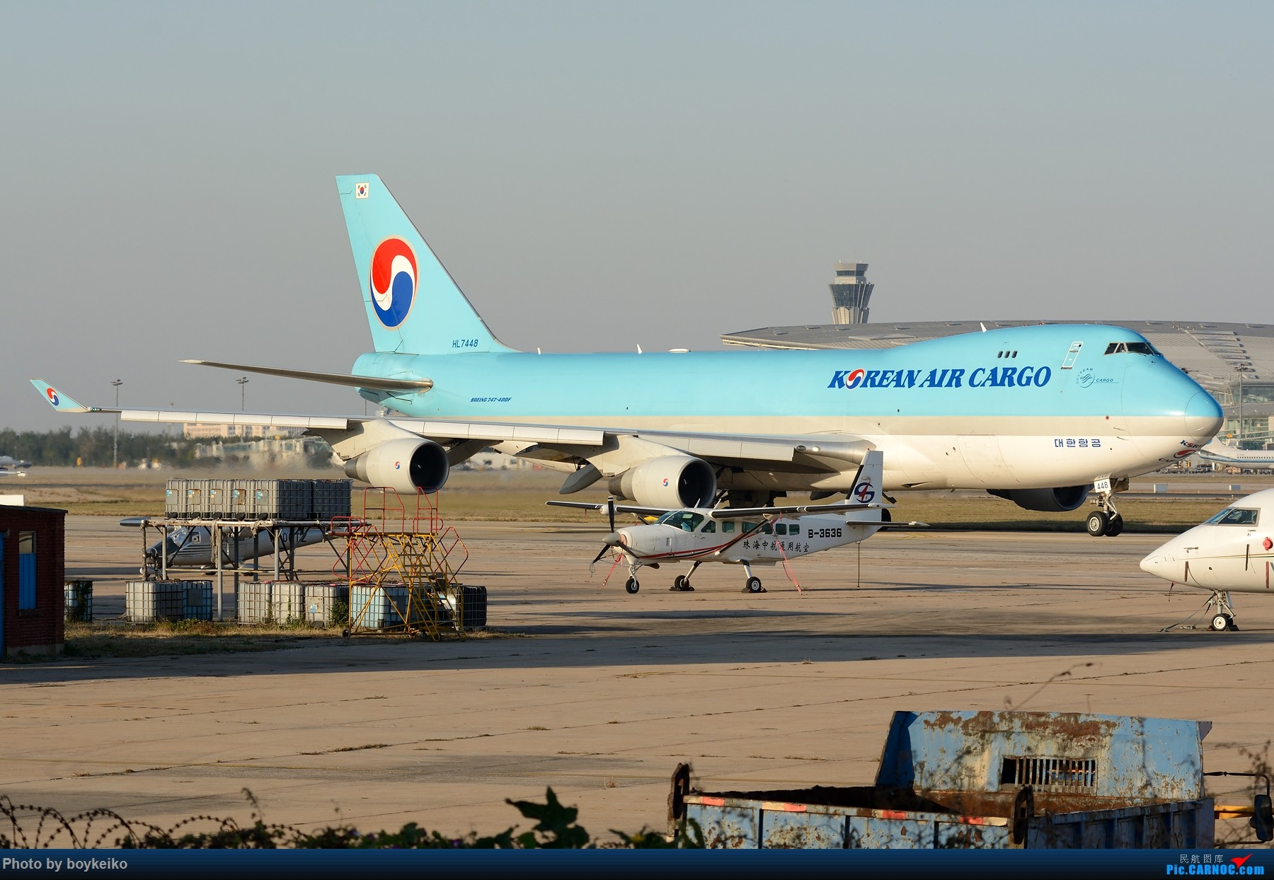 Re:[原创]【TSN】流窜作业卡狗几只 BOEING 747-400F HL7448 中国天津滨海国际机场