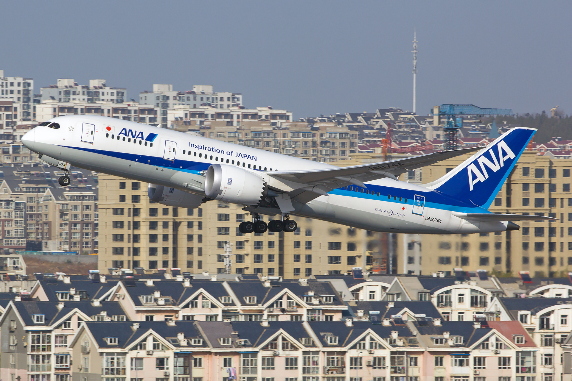 Re:[原创][DLC]。。。ANA全日空787-8首航。。。 BOEING 787-8 JA874A 中国大连国际机场